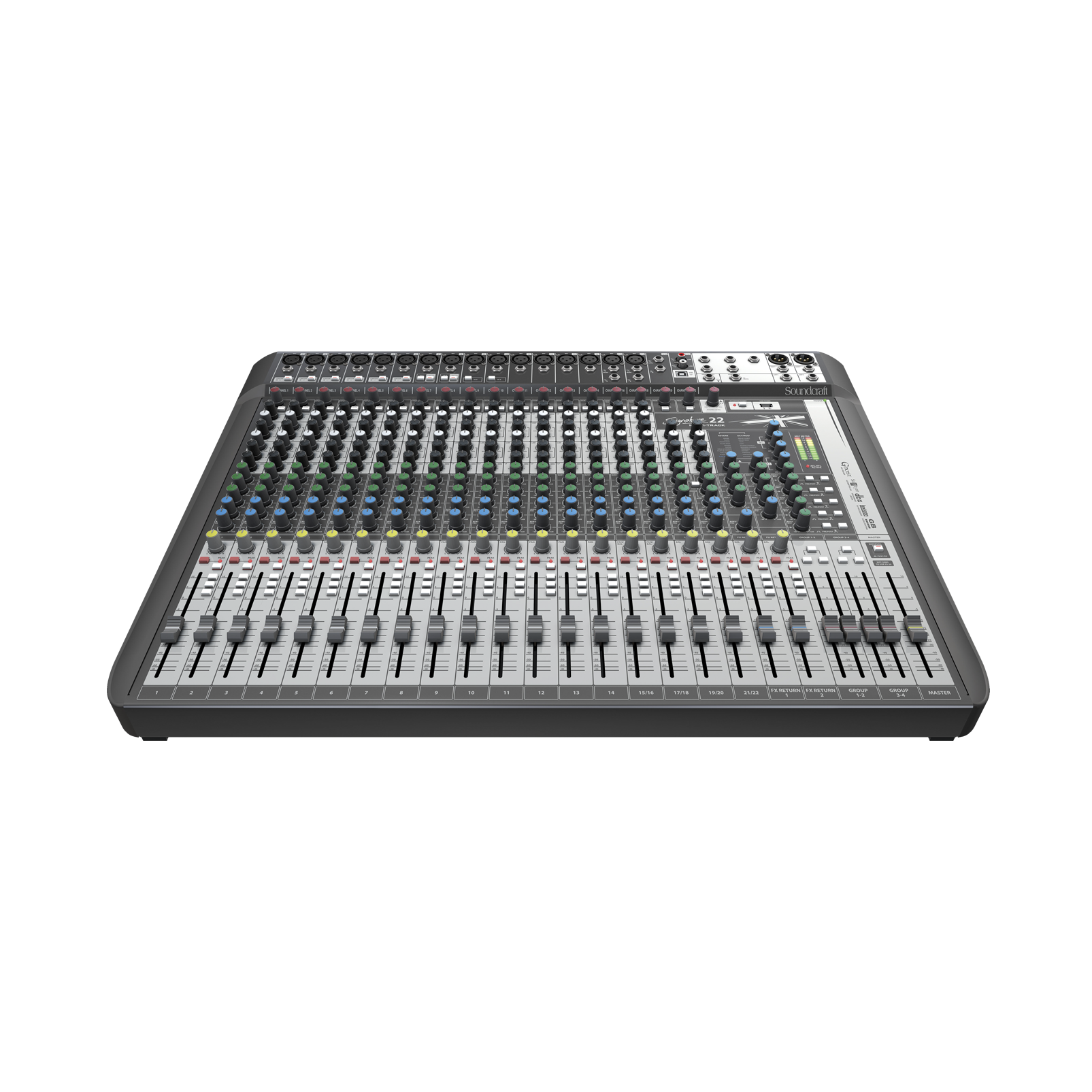 Signature 22 MTK - Black - 22-input analogue mixer with onboard effects - Detailshot 3