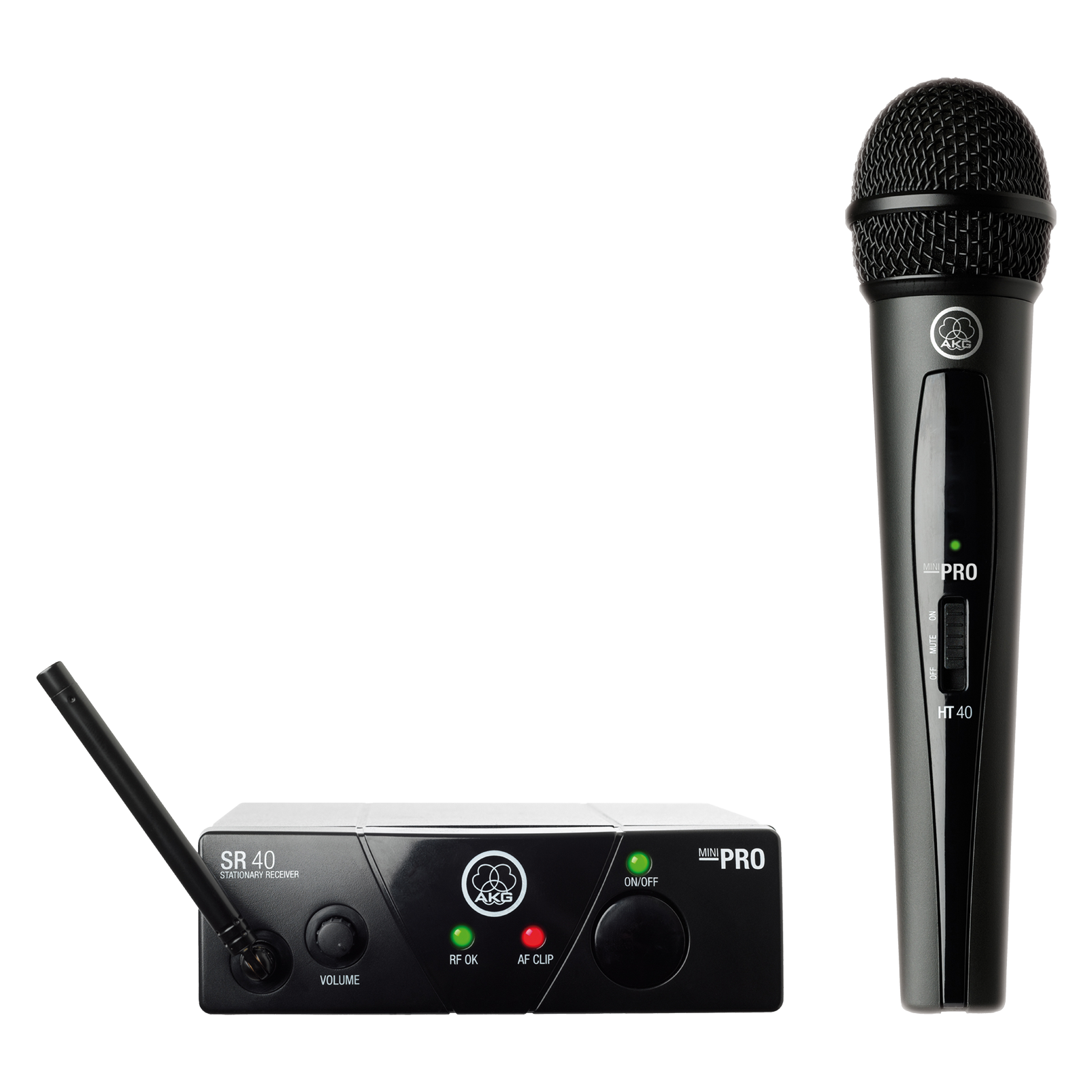 WMS40 Mini Vocal Set Band-US25-D - Black - Wireless microphone system - Hero