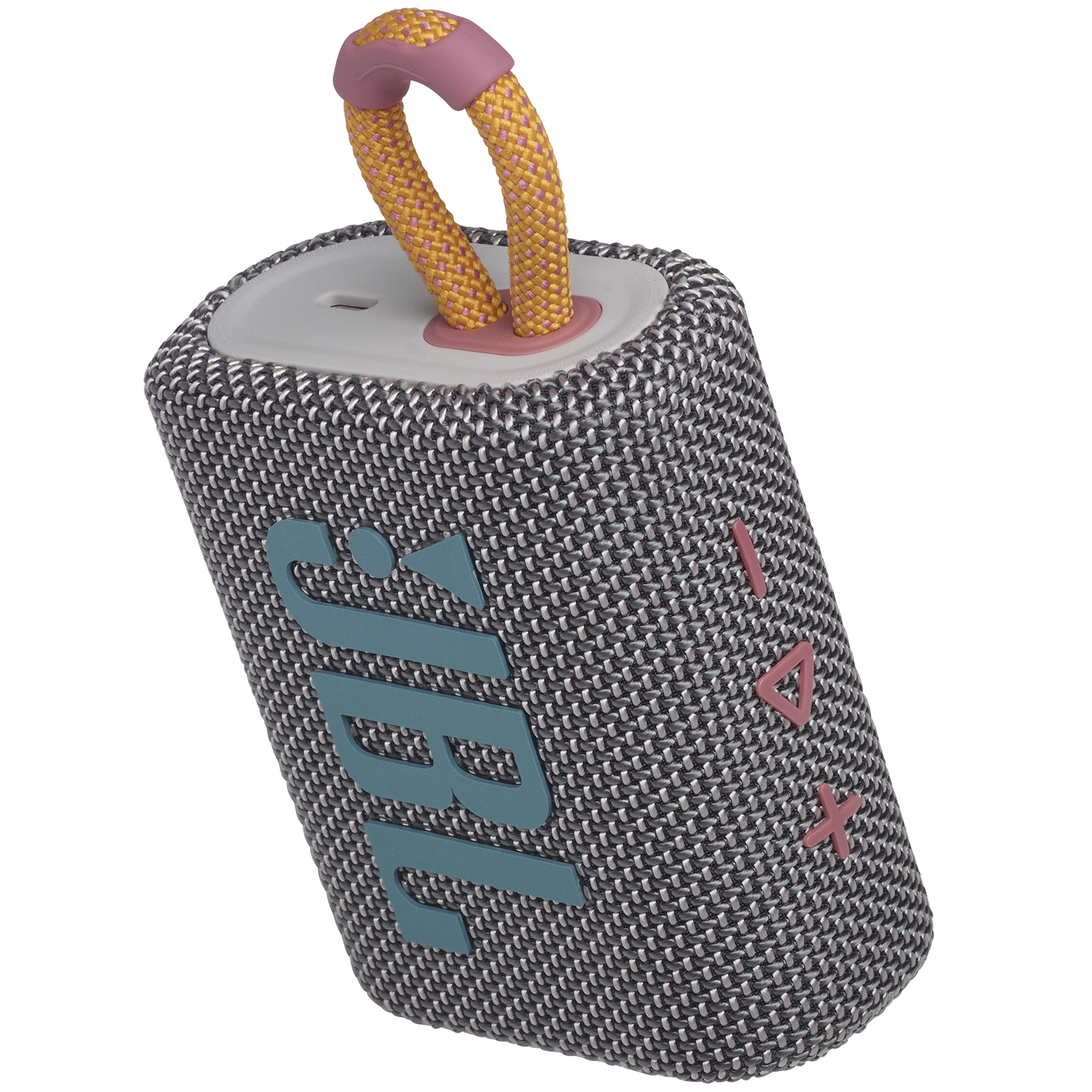 JBL GO 3 - Grey - Portable Waterproof Speaker - Detailshot 2