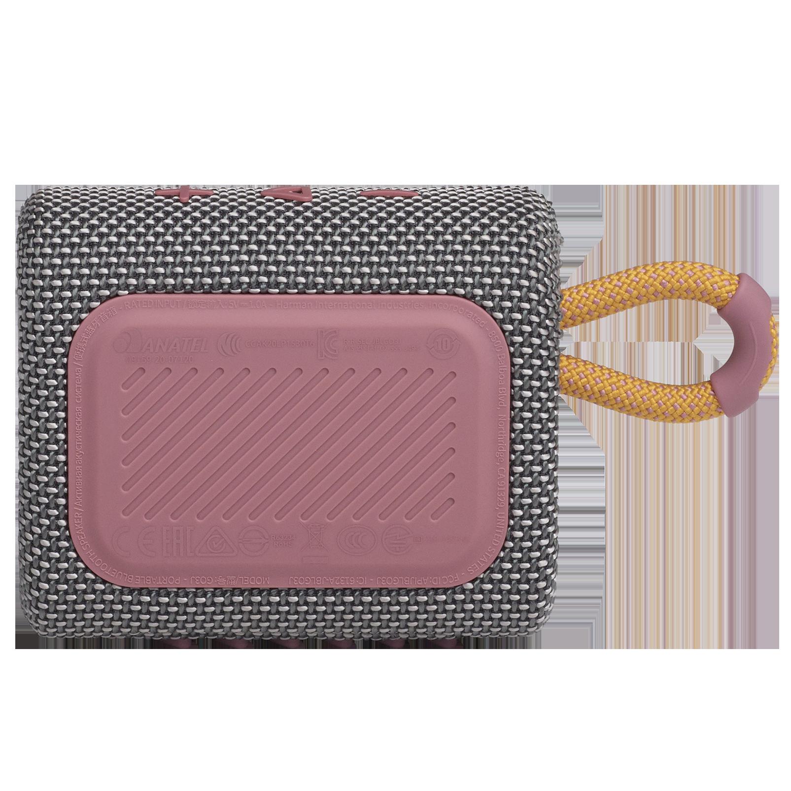 JBL Go 3 - Grey - Portable Waterproof Speaker - Back