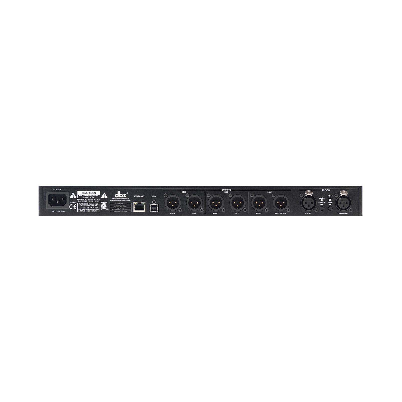 DriveRack PA2 - Black - Complete loudspeaker management system - Back