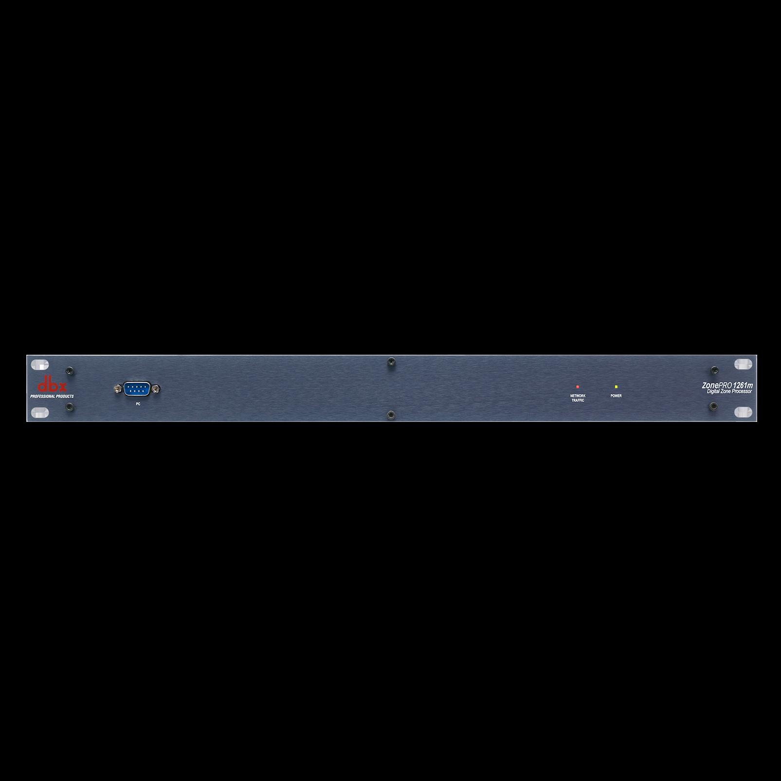 ZonePro 1261m - Black - 12x6 Digital Zone Processor - Hero