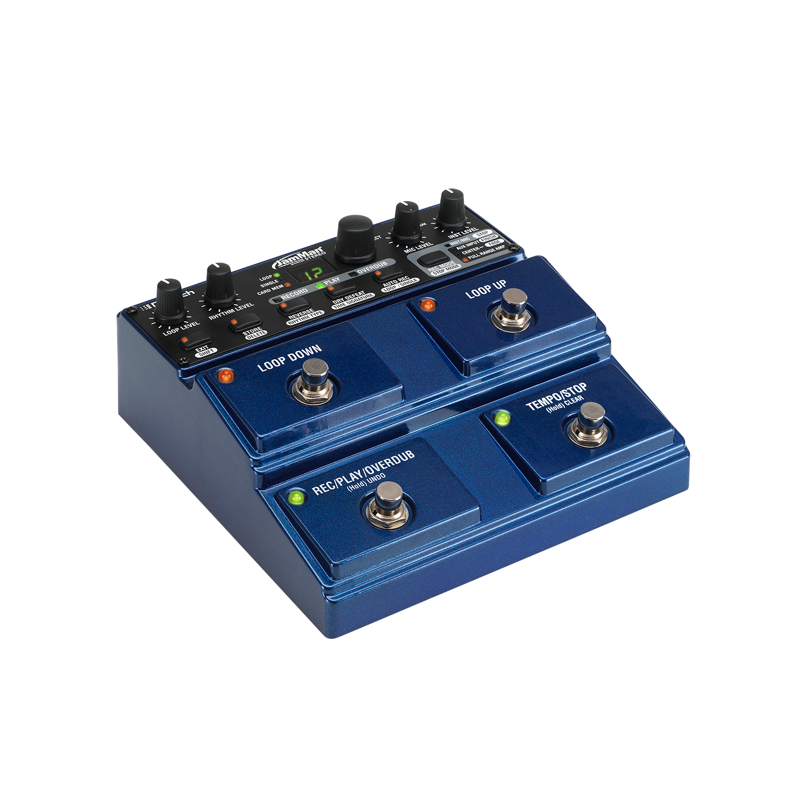 JamMan Stereo - Blue - Stereo Looping Pedal with 35 Minutes of Internal Recording Capacity, SDHC Card Expansion, and Included JamManager Loop Librarian Software - Hero