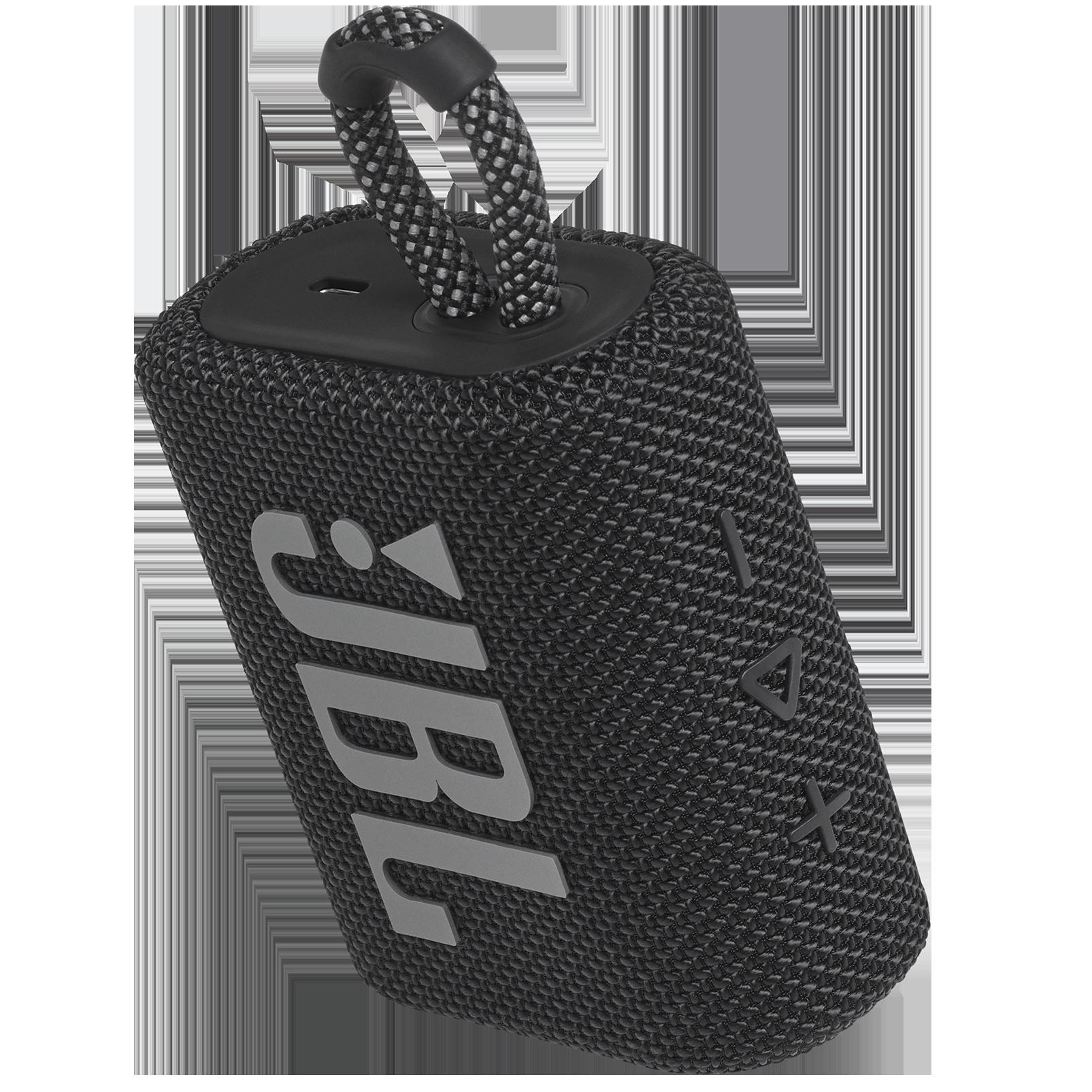 JBL Go 3 - Black - Portable Waterproof Speaker - Detailshot 2