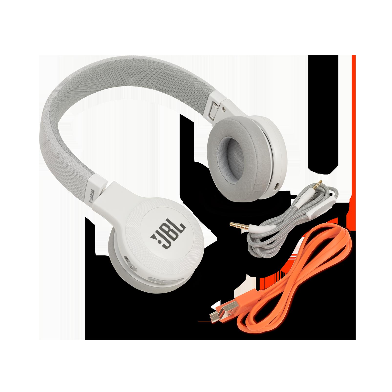JBL E45BT - White - Wireless on-ear headphones - Detailshot 4
