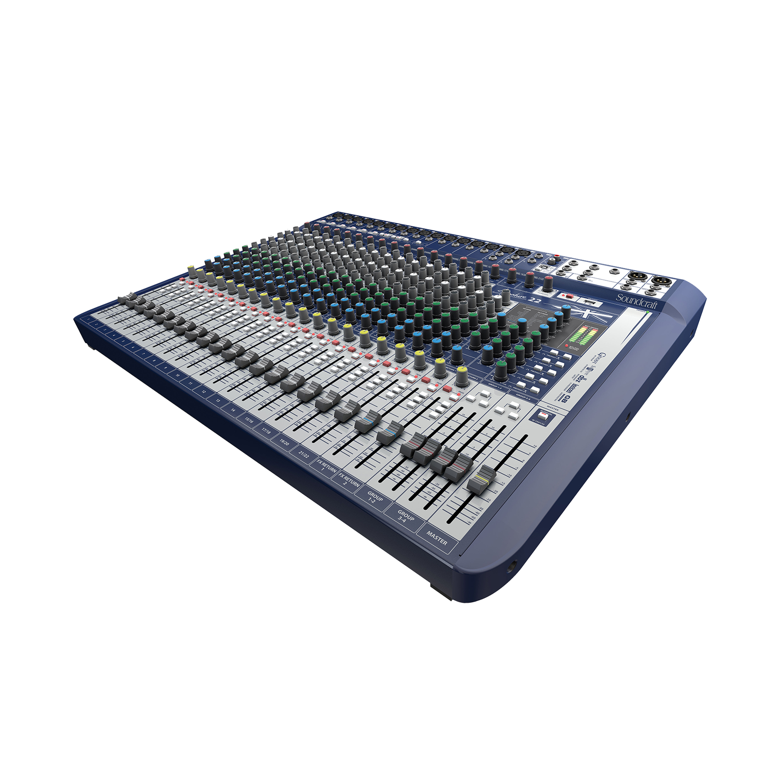 Signature 22 - Dark Blue - 22-input analogue mixer with onboard effects - Hero