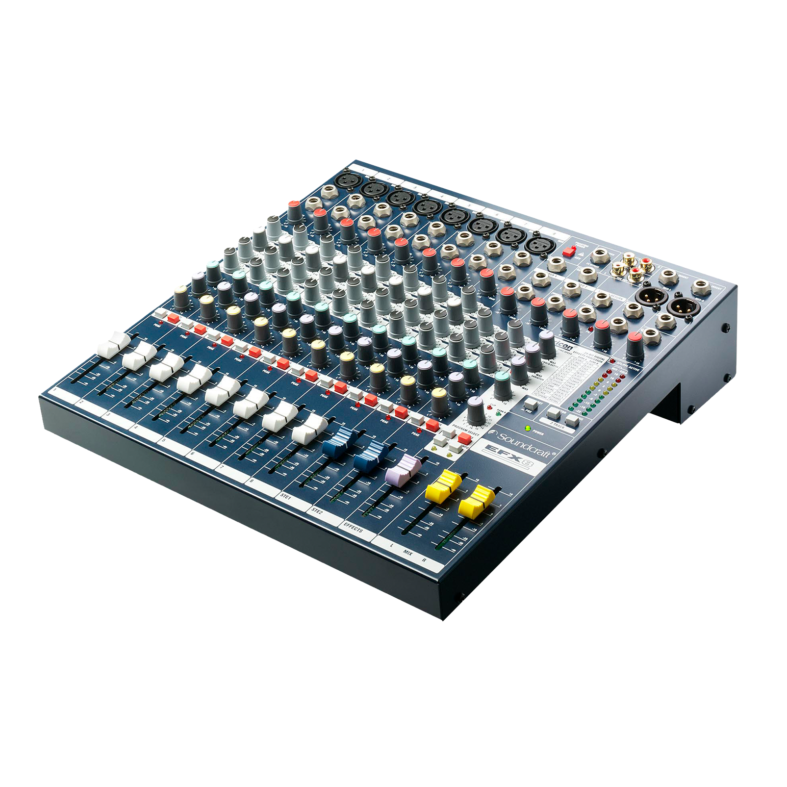 EFX8 - Dark Blue - Compact analogue 8 channel mixer with built-in effects - Hero