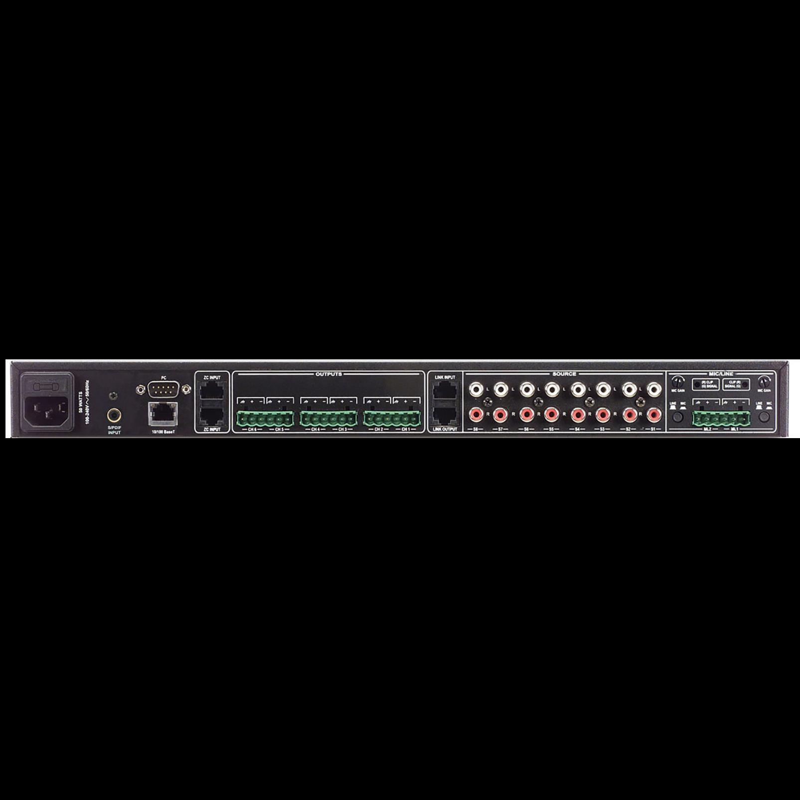 ZonePro 1260 - Black - 12x6 Digital Zone Processor - Back