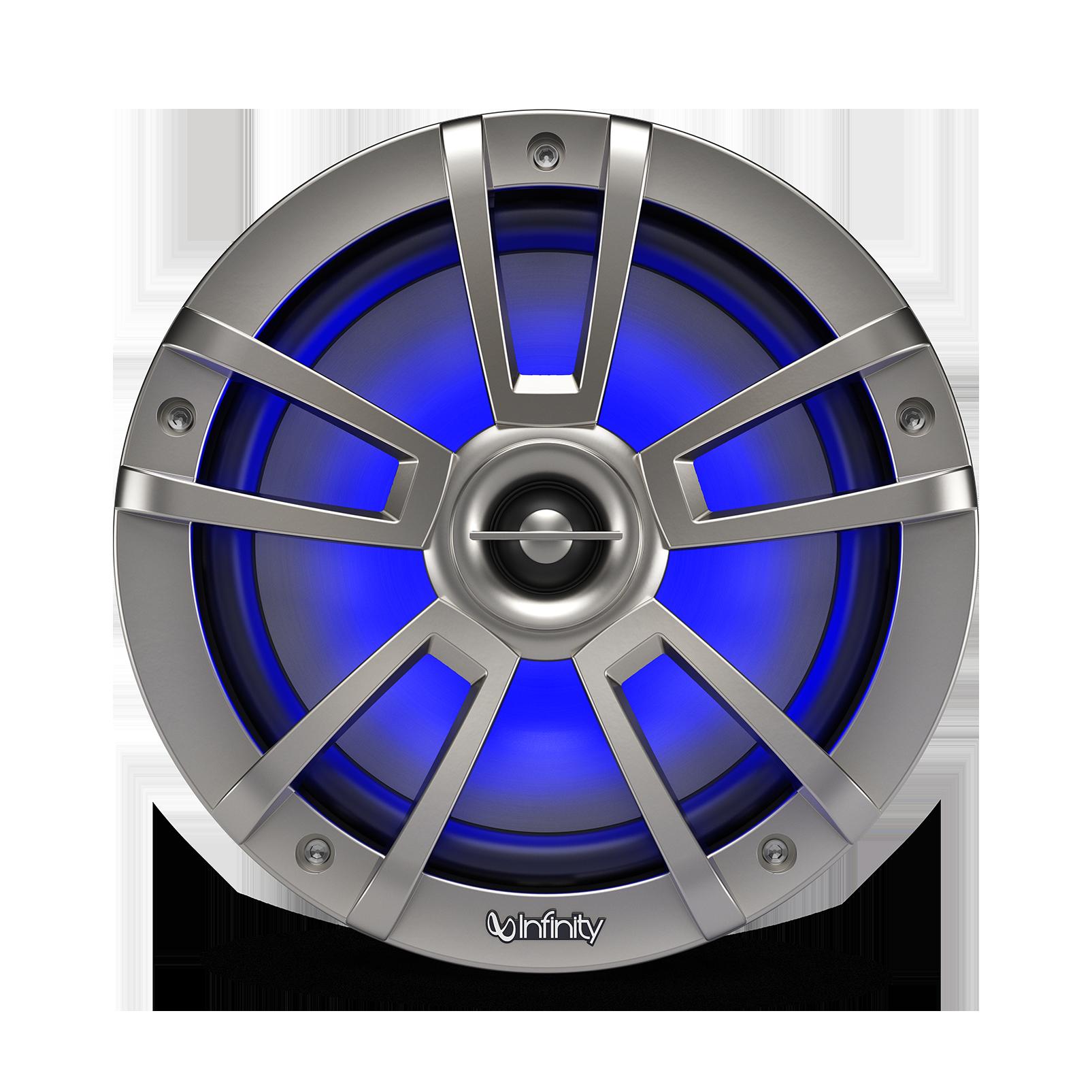 "Reference 822MLT - Graphite - Reference 822MLT—8"" (200mm) two-way marine audio multi-element speaker – titanium - Detailshot 3"