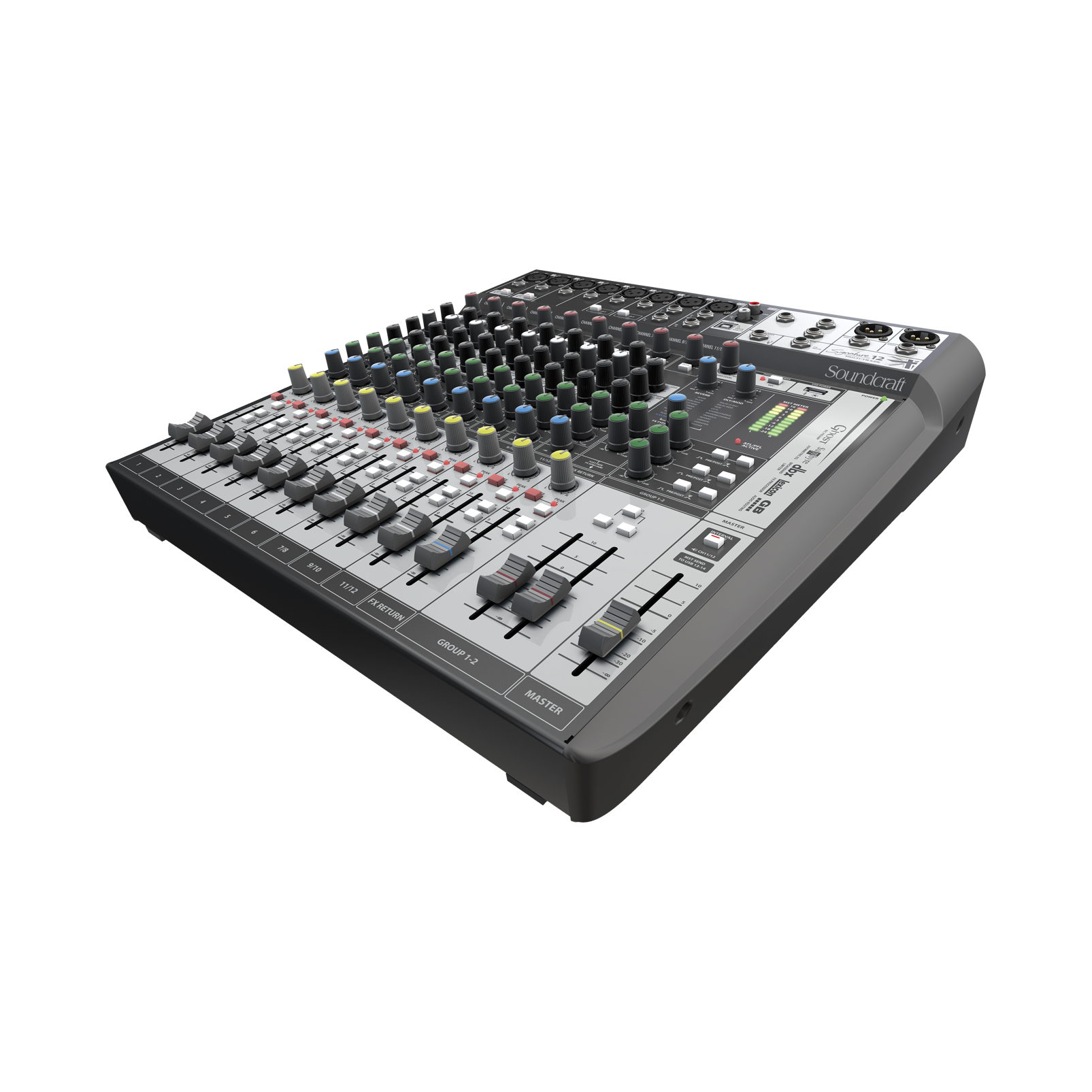 Signature 12 MTK - Black - 12-input analogue mixer with onboard effects and multi-track USB recording and playback - Detailshot 1