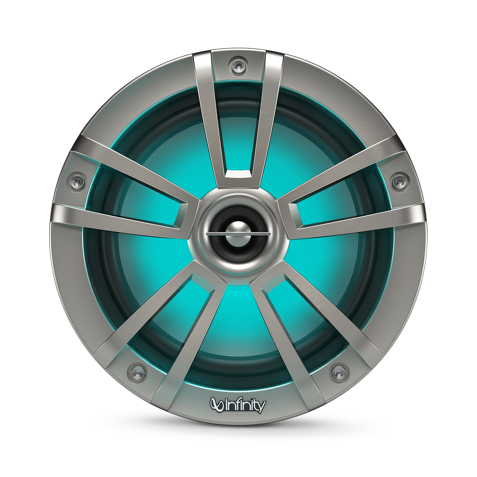 "Reference 622MLT - Graphite - Reference 622MLT—6-1/2"" (160mm) two-way marine audio multi-element speaker – titanium - Detailshot 1"