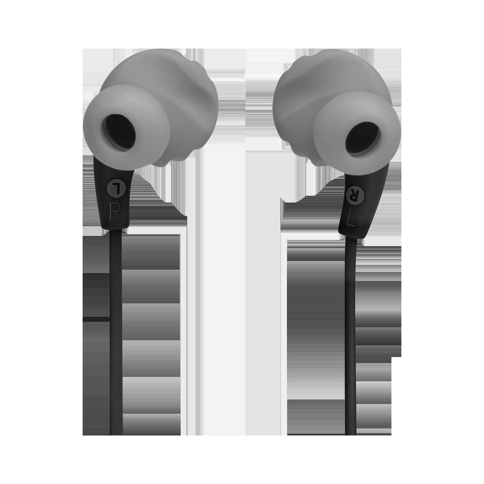 JBL Endurance RUNBT - Black - Sweatproof Wireless In-Ear Sport Headphones - Back