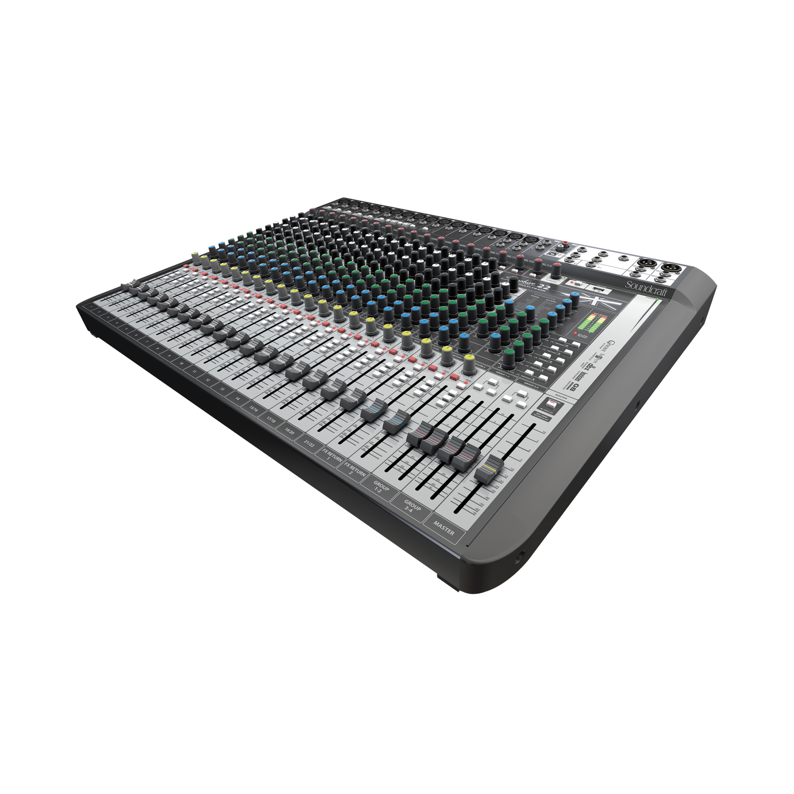 Signature 22 MTK - Black - 22-input analogue mixer with onboard effects - Detailshot 2