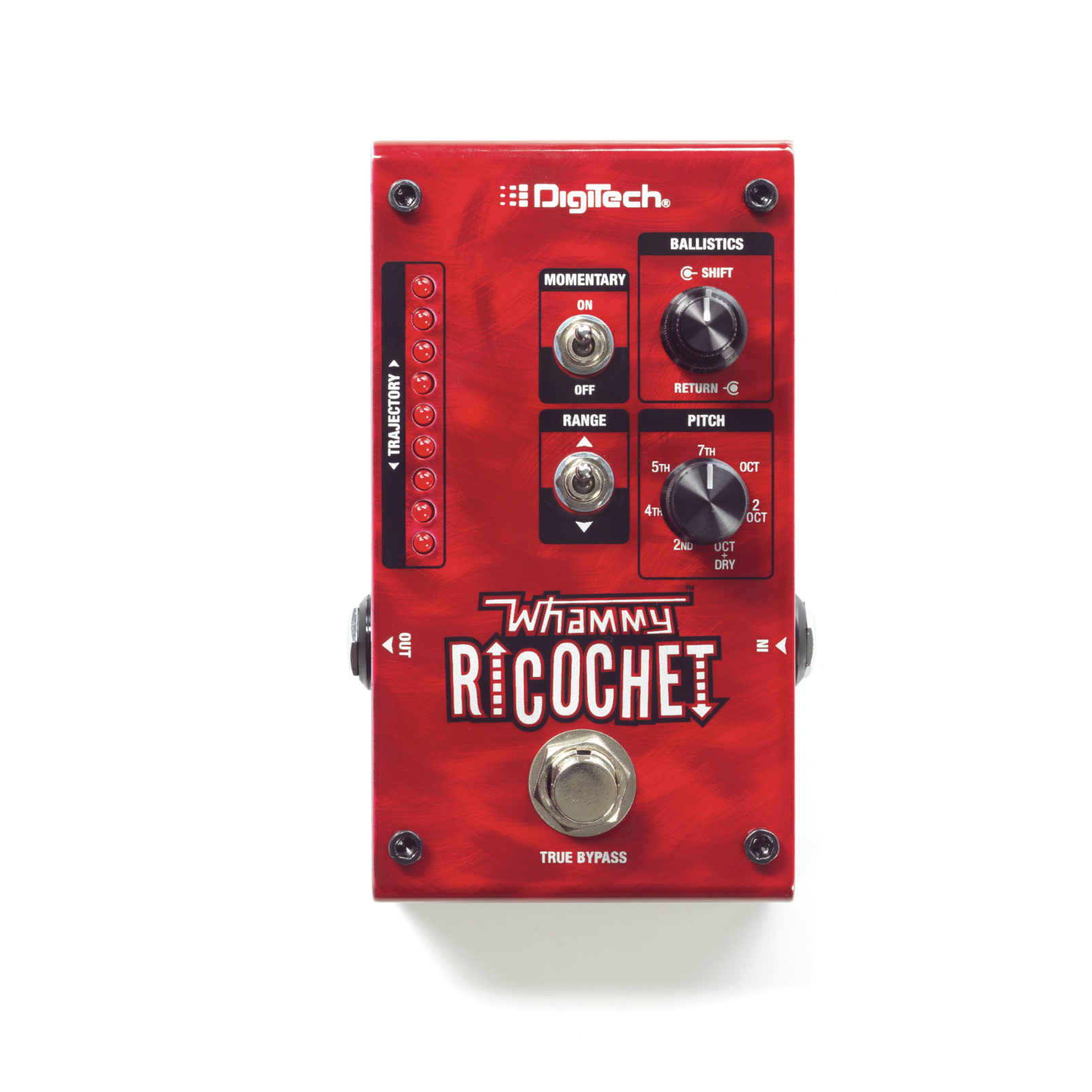 Whammy Ricochet - Red - Pitch Shift Pedal - Front