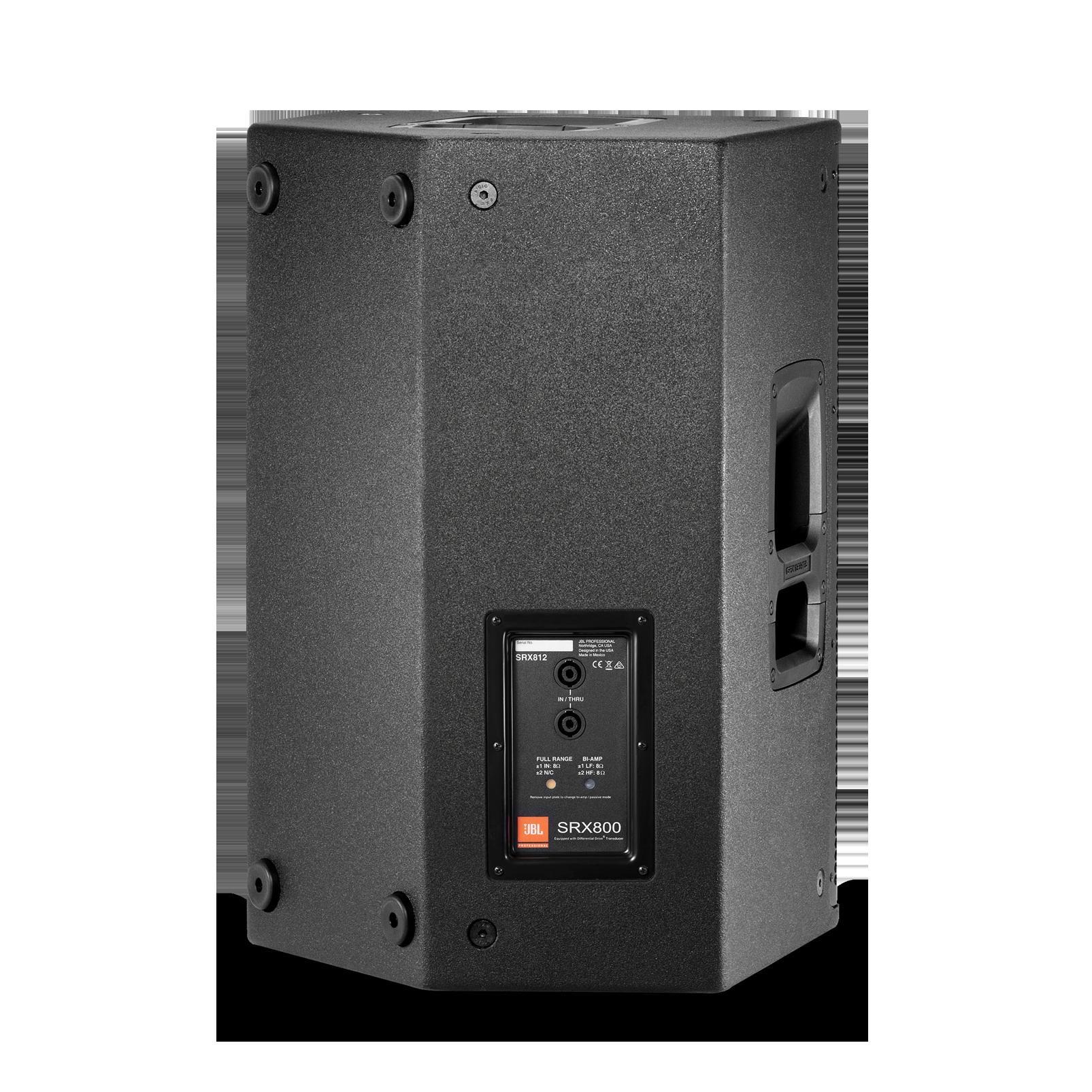 """JBL SRX812 - Black - 12"""" Two-Way Bass Reflex Passive System - Back"""
