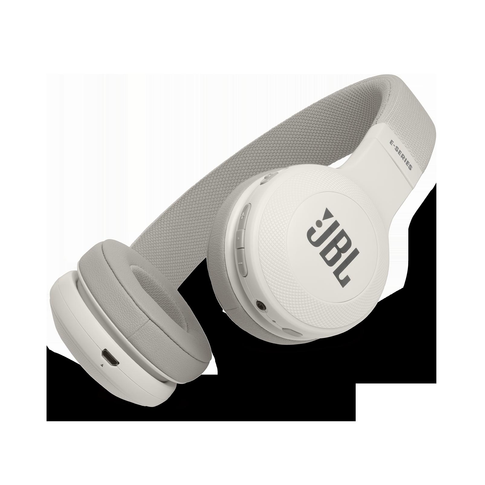 JBL E45BT - White - Wireless on-ear headphones - Hero