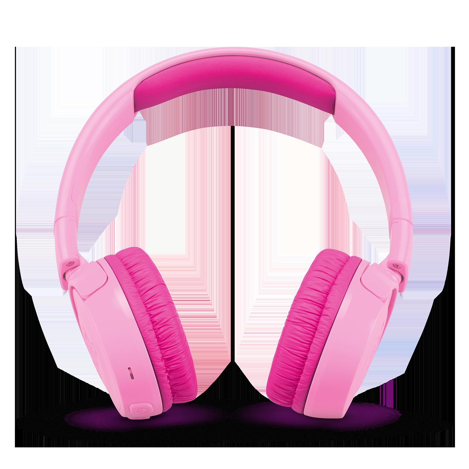 JBL JR300BT - Pink - Kids Wireless on-ear headphones - Front