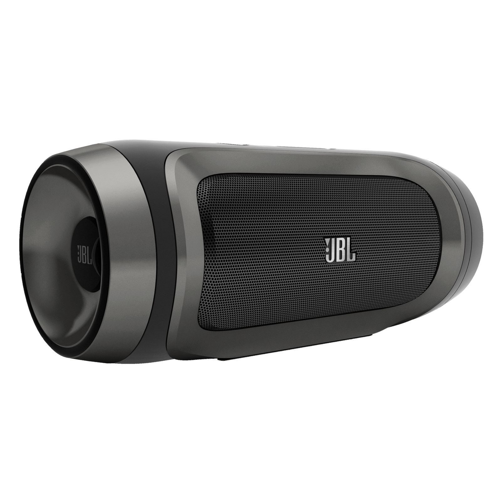 JBL Charge - Black / Silver - Portable Wireless Bluetooth Speaker with USB Charger - Hero