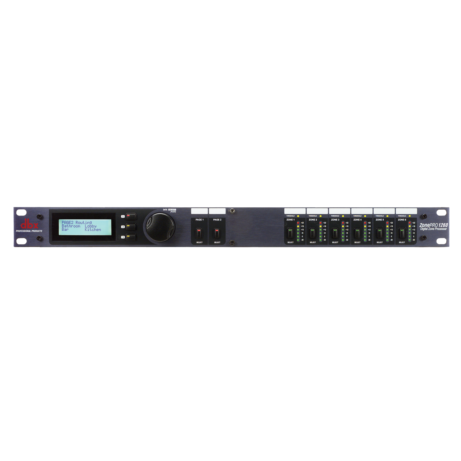 ZonePro 1260 - Black - 12x6 Digital Zone Processor - Hero