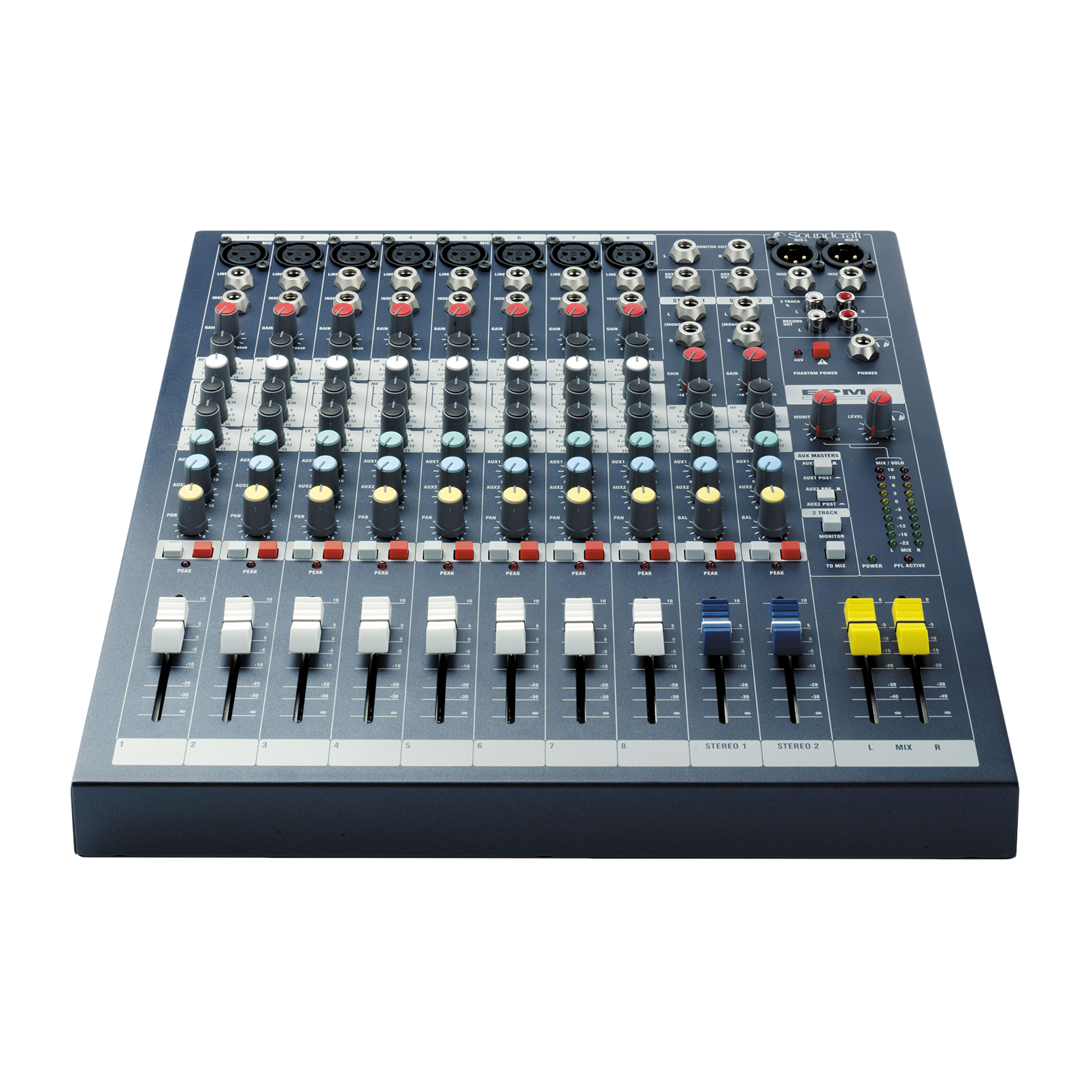 EPM8 - Dark Blue - A multipurpose mixer that carries the hallmarks of Soundcraft's professional heritage. - Detailshot 1