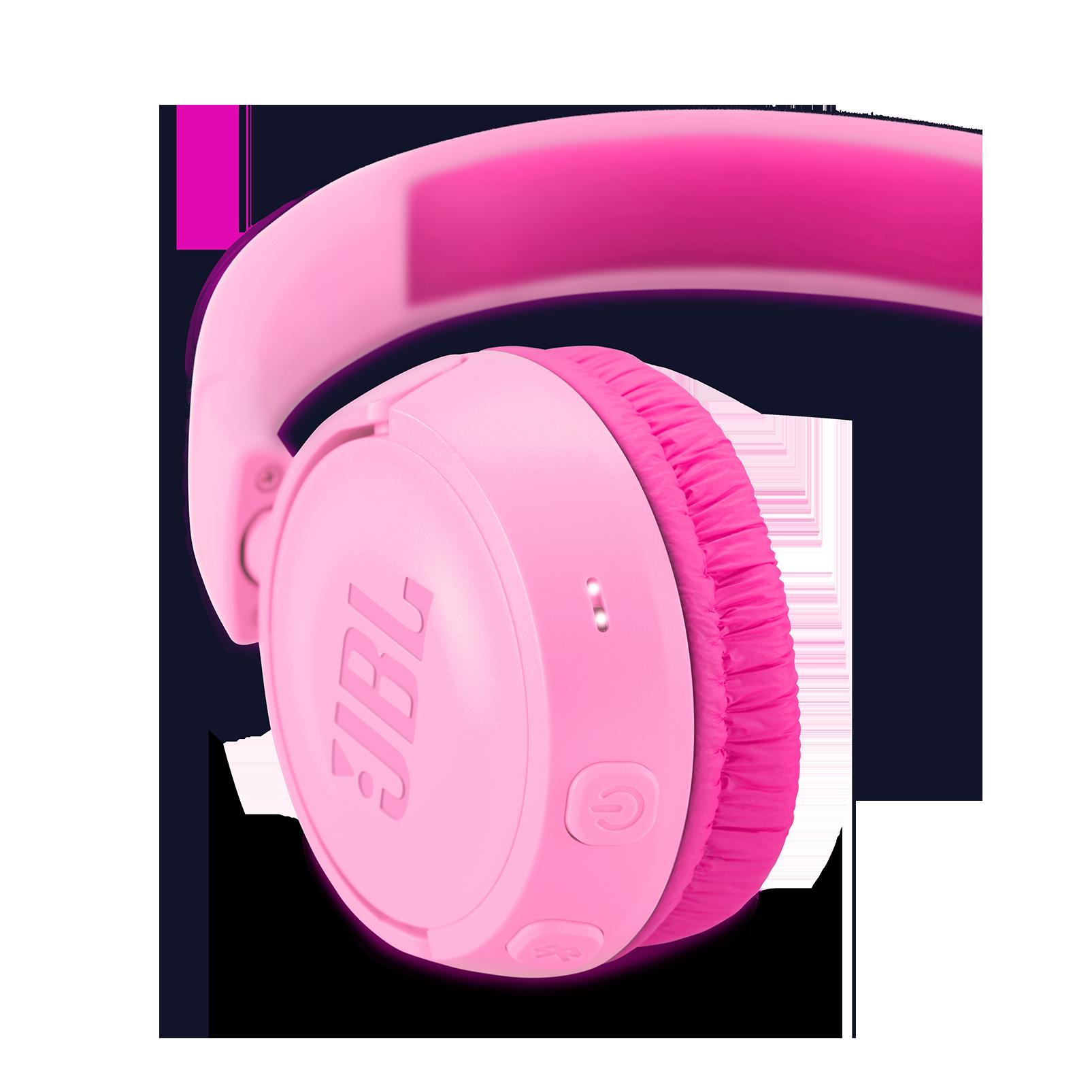 JBL JR300BT - Pink - Kids Wireless on-ear headphones - Detailshot 2