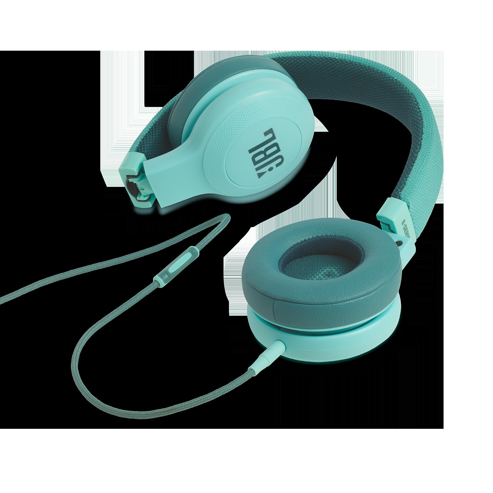 E35 - Teal - On-ear headphones - Detailshot 3
