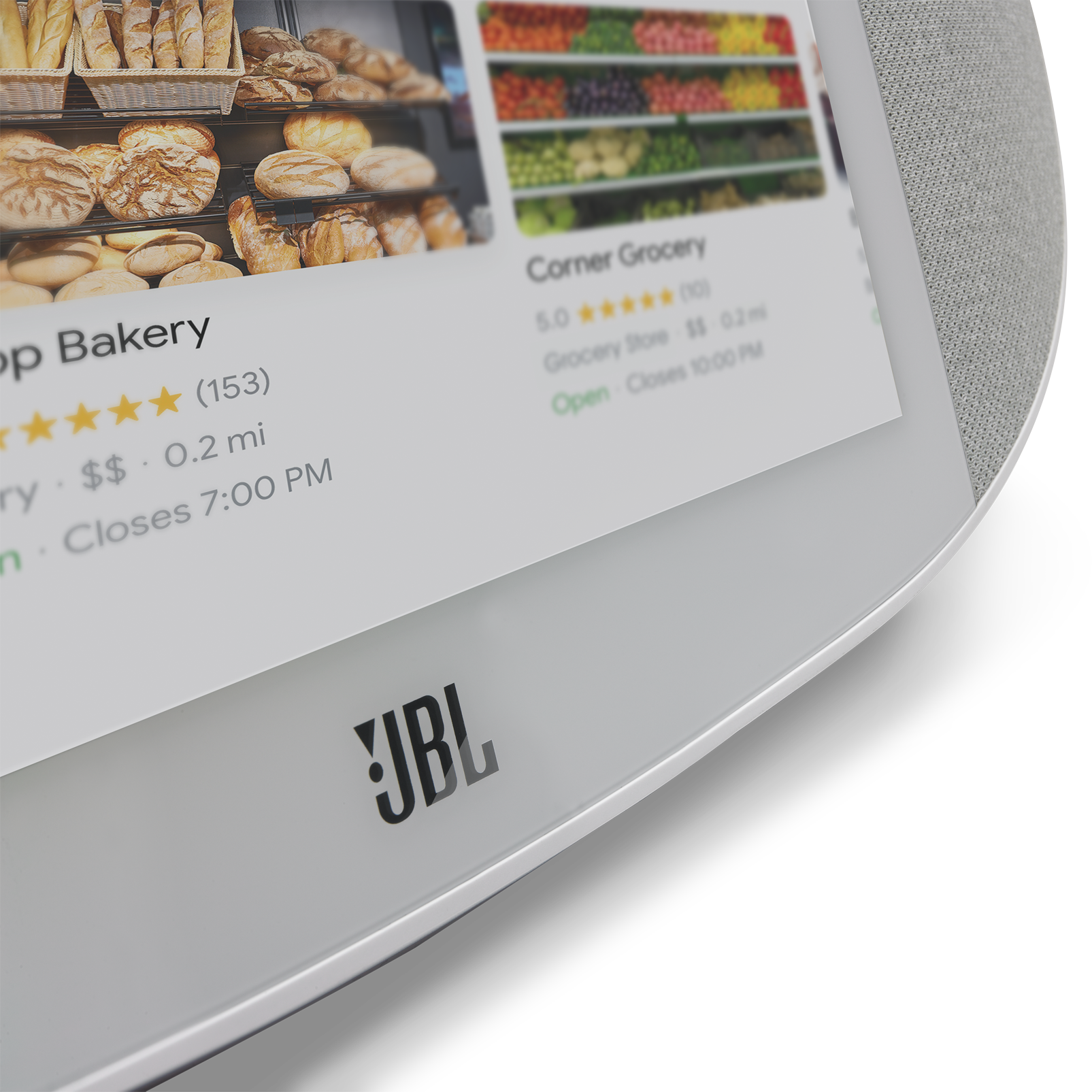 JBL LINK VIEW - White - JBL legendary sound in a Smart Display with the Google Assistant. - Detailshot 2