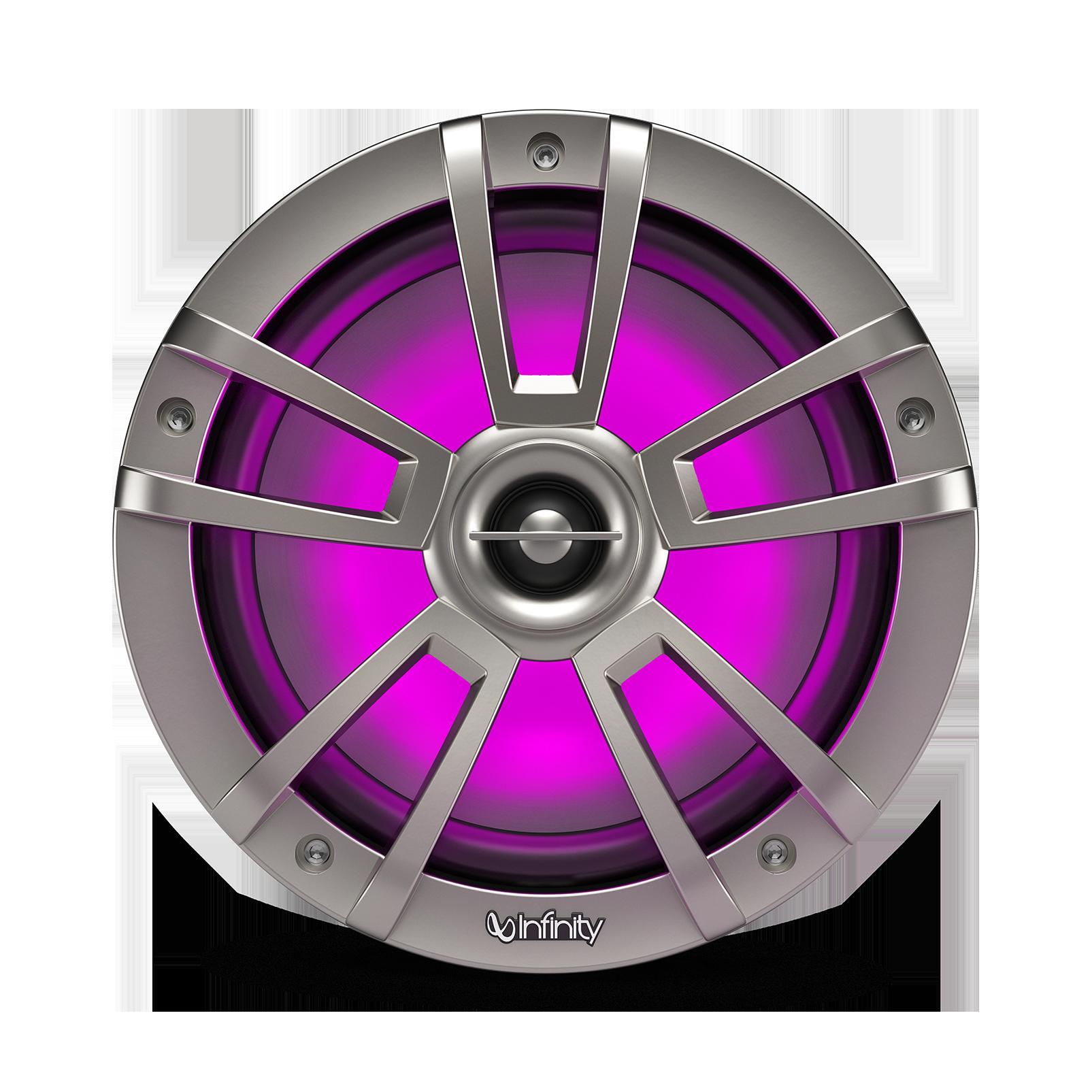 "Reference 822MLT - Graphite - Reference 822MLT—8"" (200mm) two-way marine audio multi-element speaker – titanium - Detailshot 2"