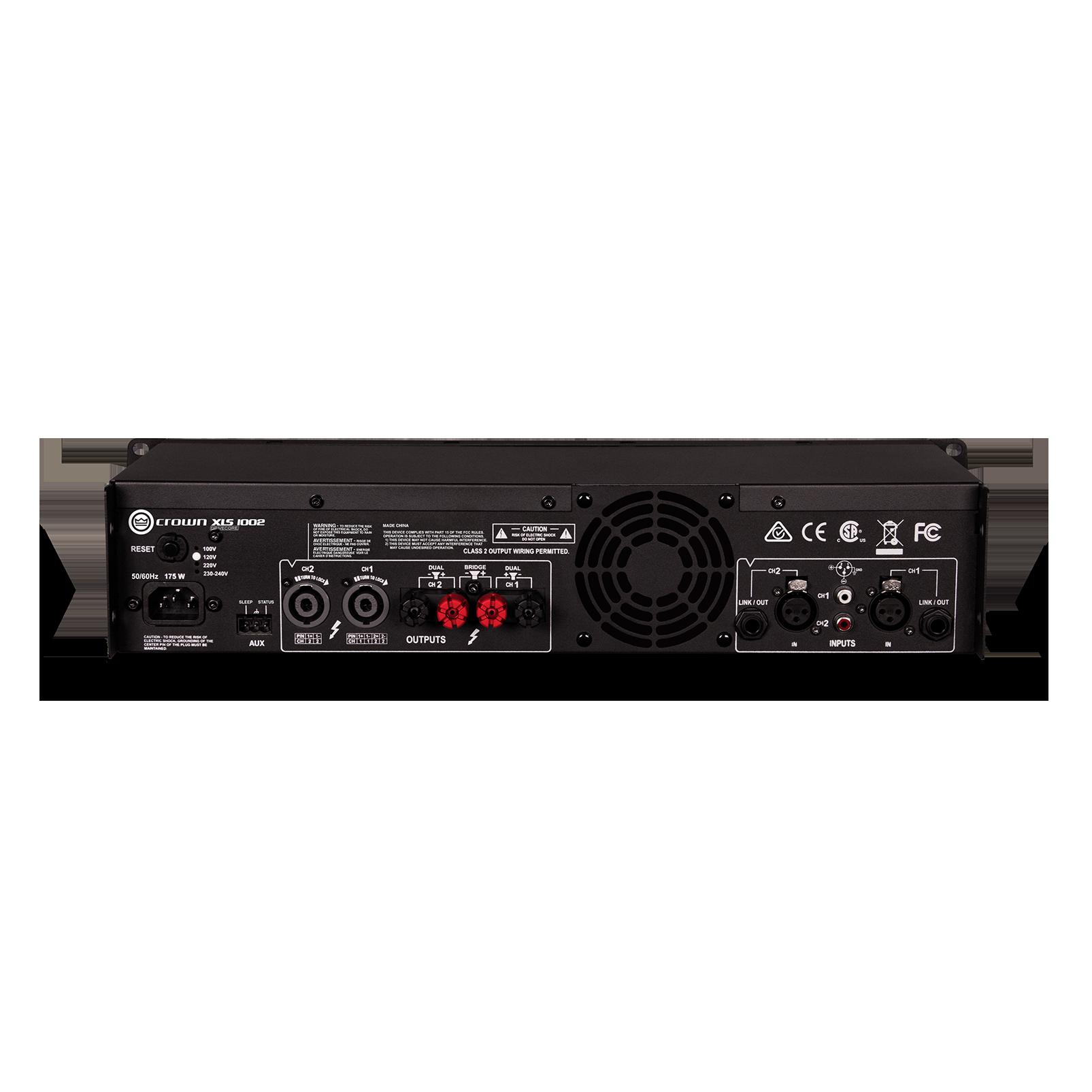XLS 1002 - Black - Two-channel, 350W @ 4Ω power amplifier - Back