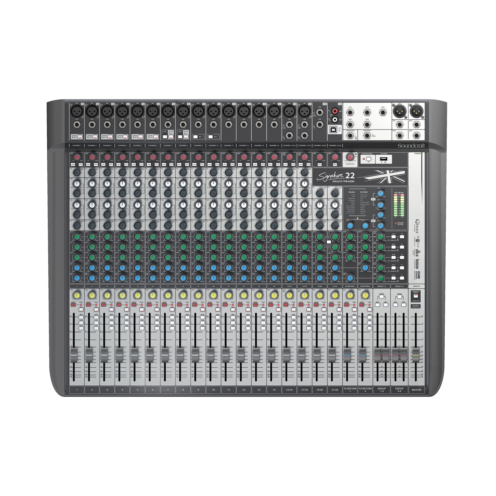 Signature 22 MTK - Black - 22-input analogue mixer with onboard effects - Hero