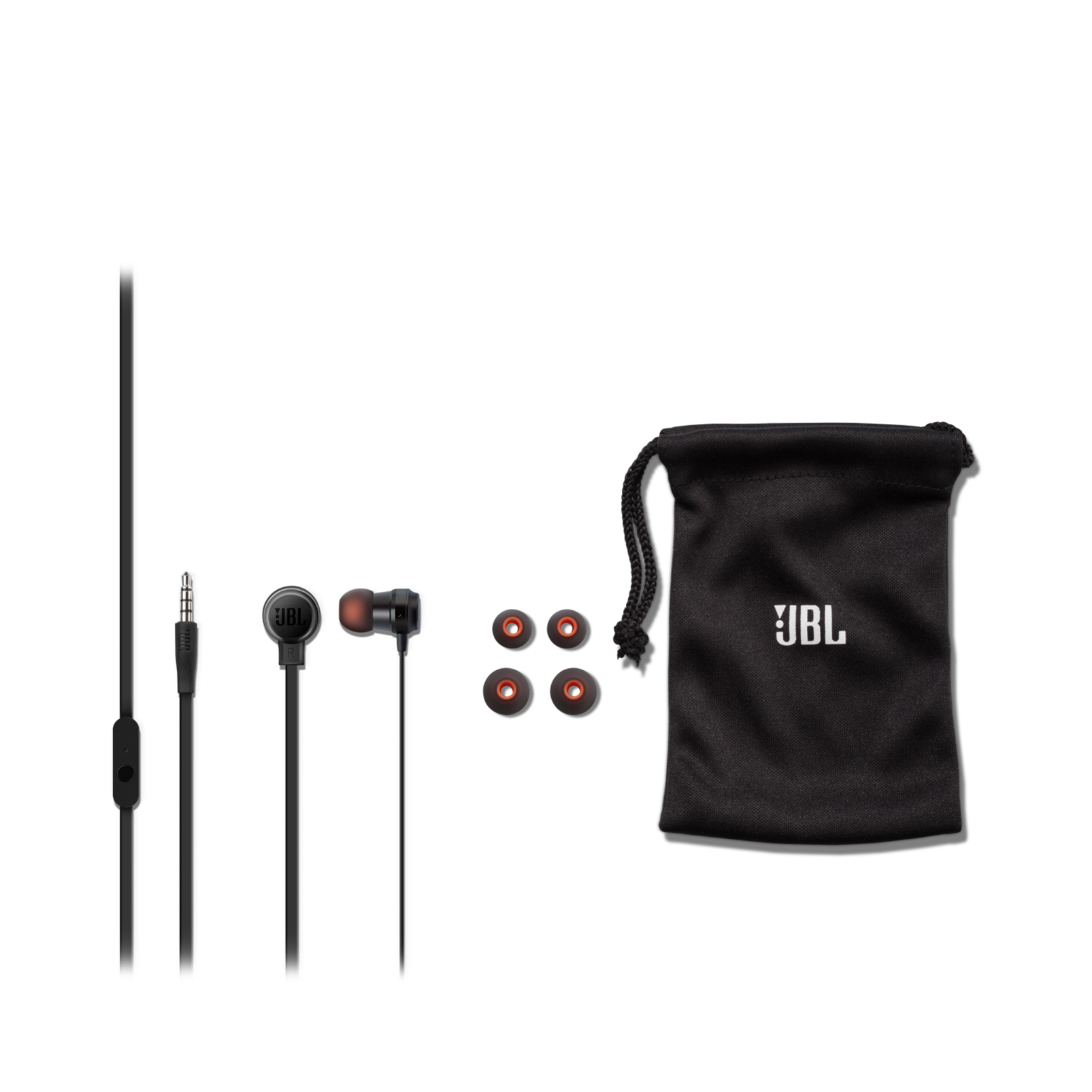 JBL T280A - Black - In-ear headphones with high performance drivers - Detailshot 2