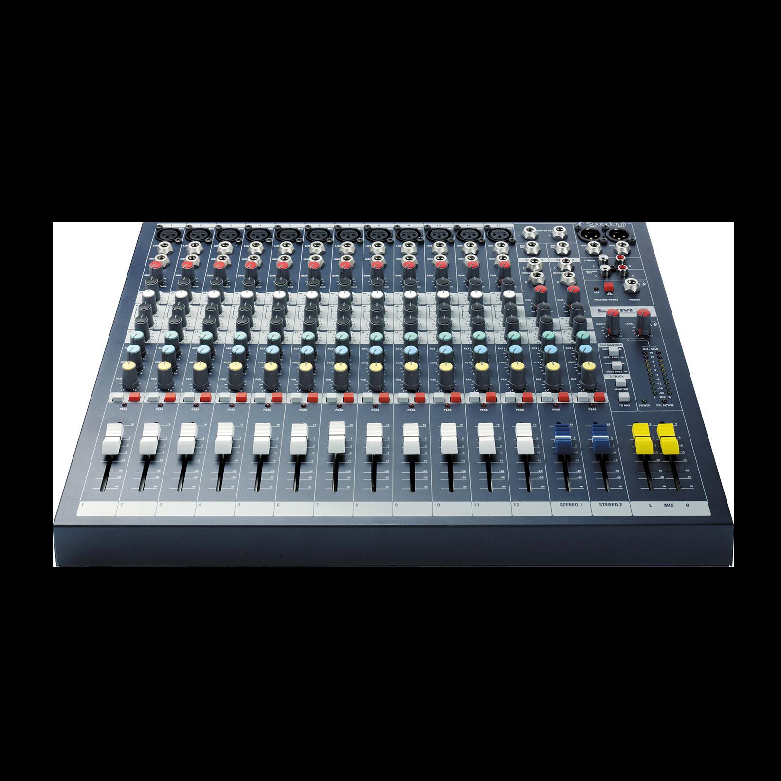 EPM12 - Dark Blue - A multipurpose mixer that carries the hallmarks of Soundcraft's professional heritage. - Detailshot 1