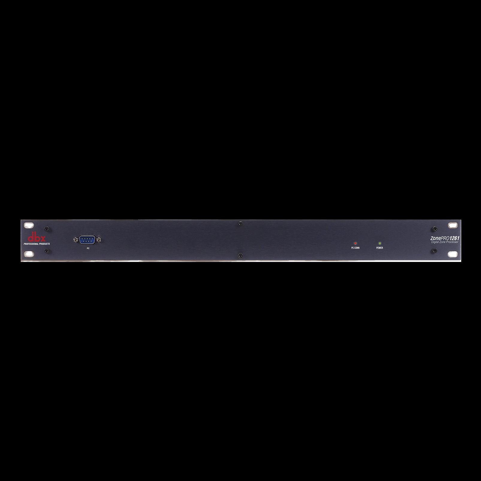ZonePro 1261 - Black - 12x6 Digital Zone Processor - Hero