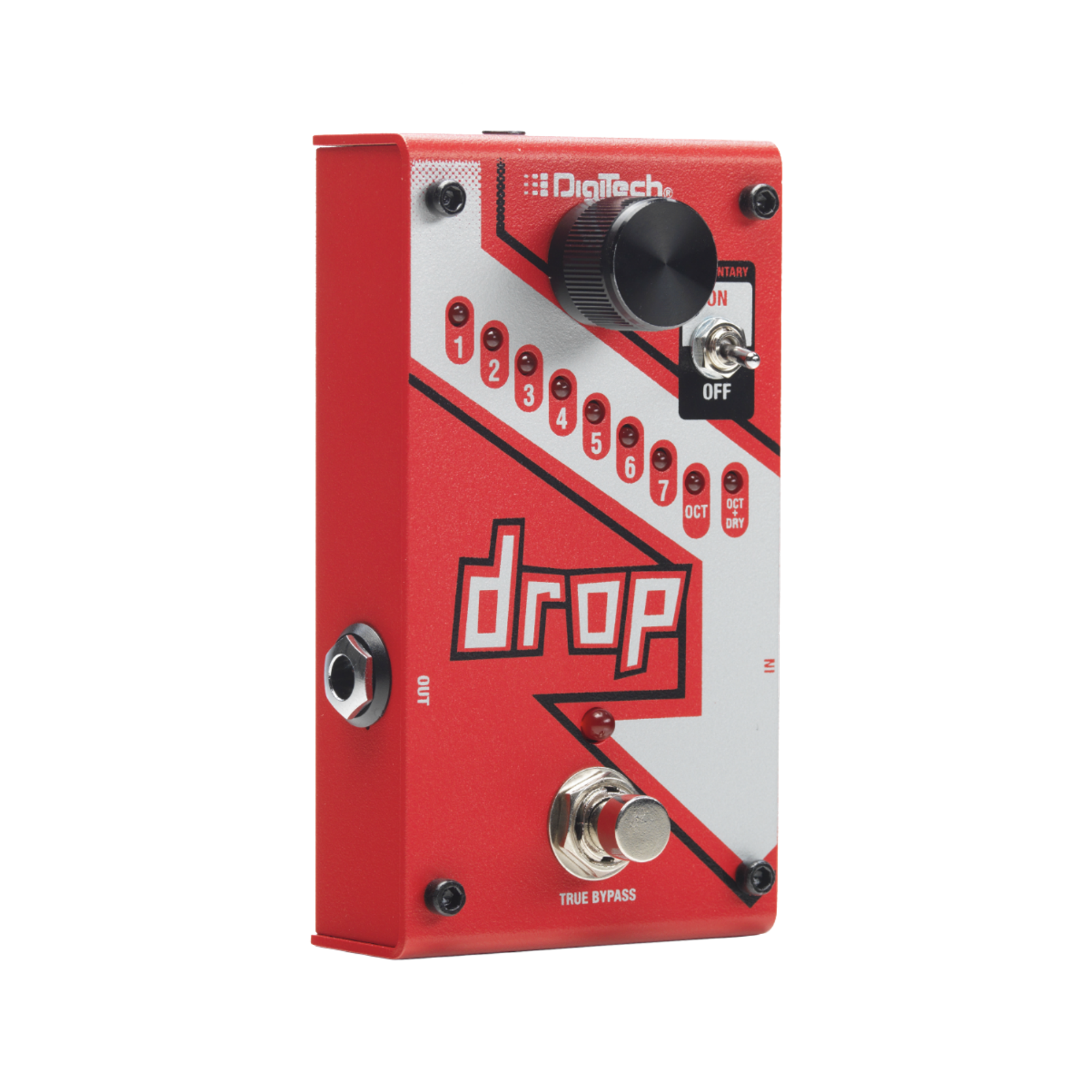 The Drop - Red - Polyphonic Drop Tune Pedal - Hero