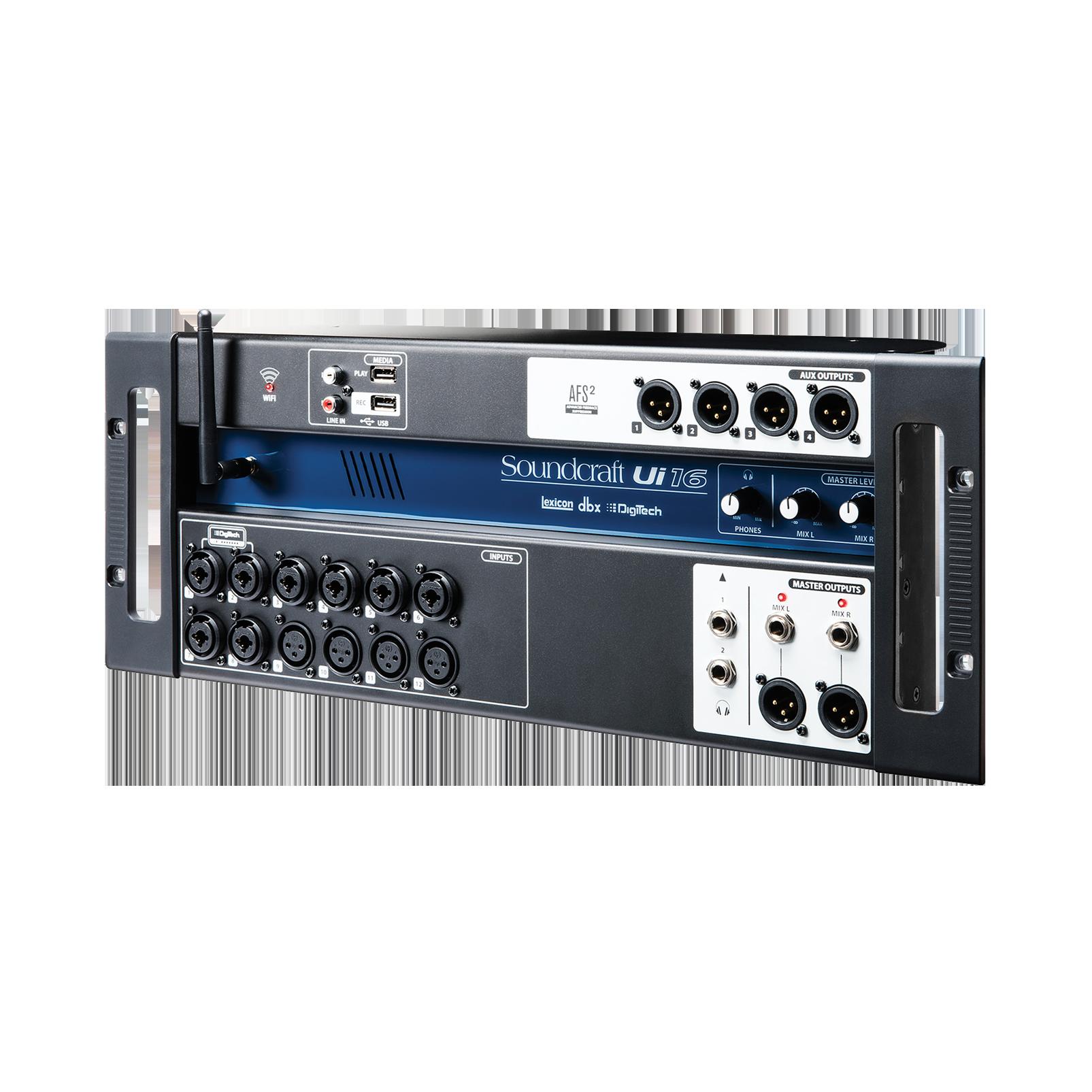 Ui16 - Black - 16-input remote-controlled digital mixer - Hero