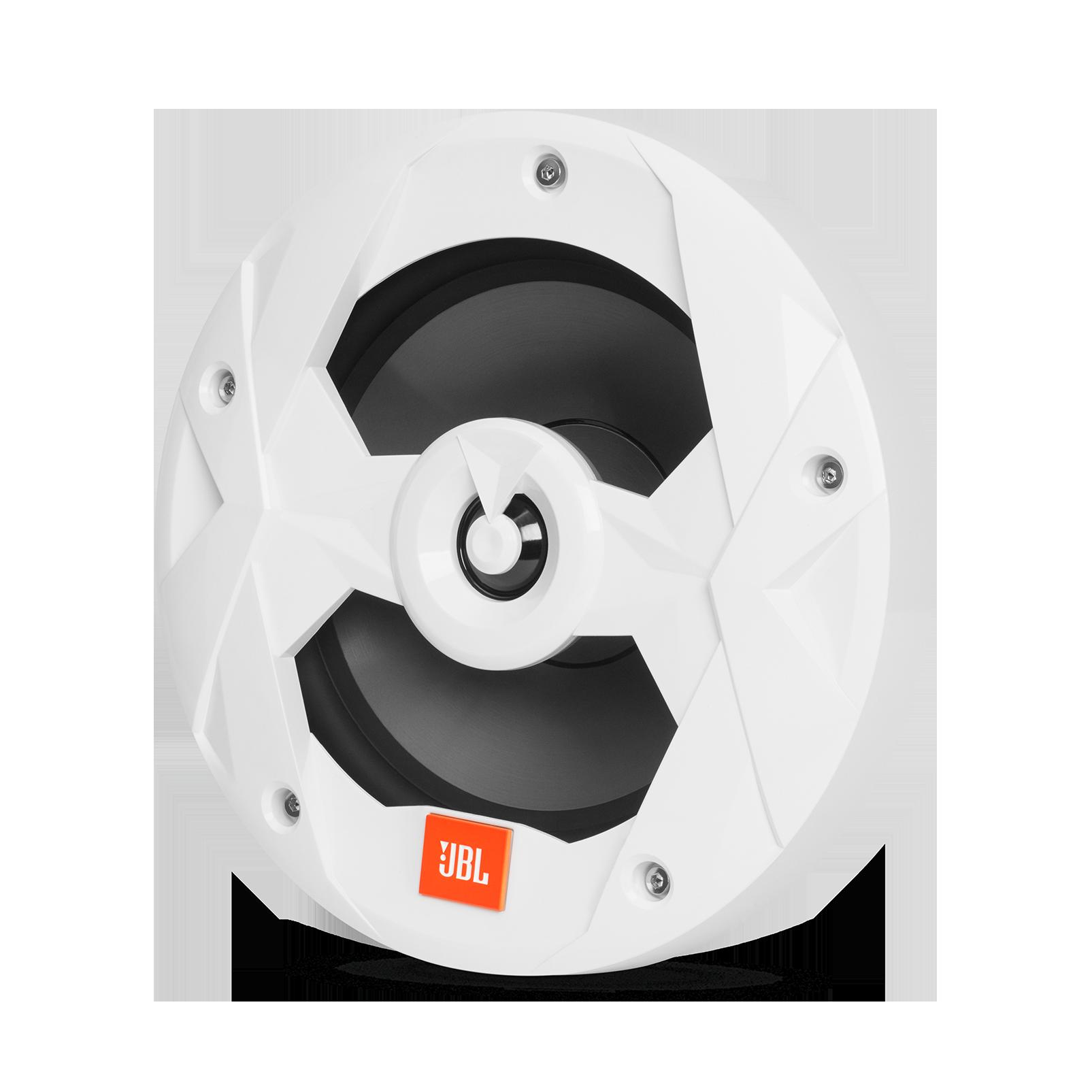 "Club Marine MS8LW - White Gloss - Club Marine MS8LW—8"" (200mm) two-way marine audio multi-element speaker with RGB lighting – White - Hero"