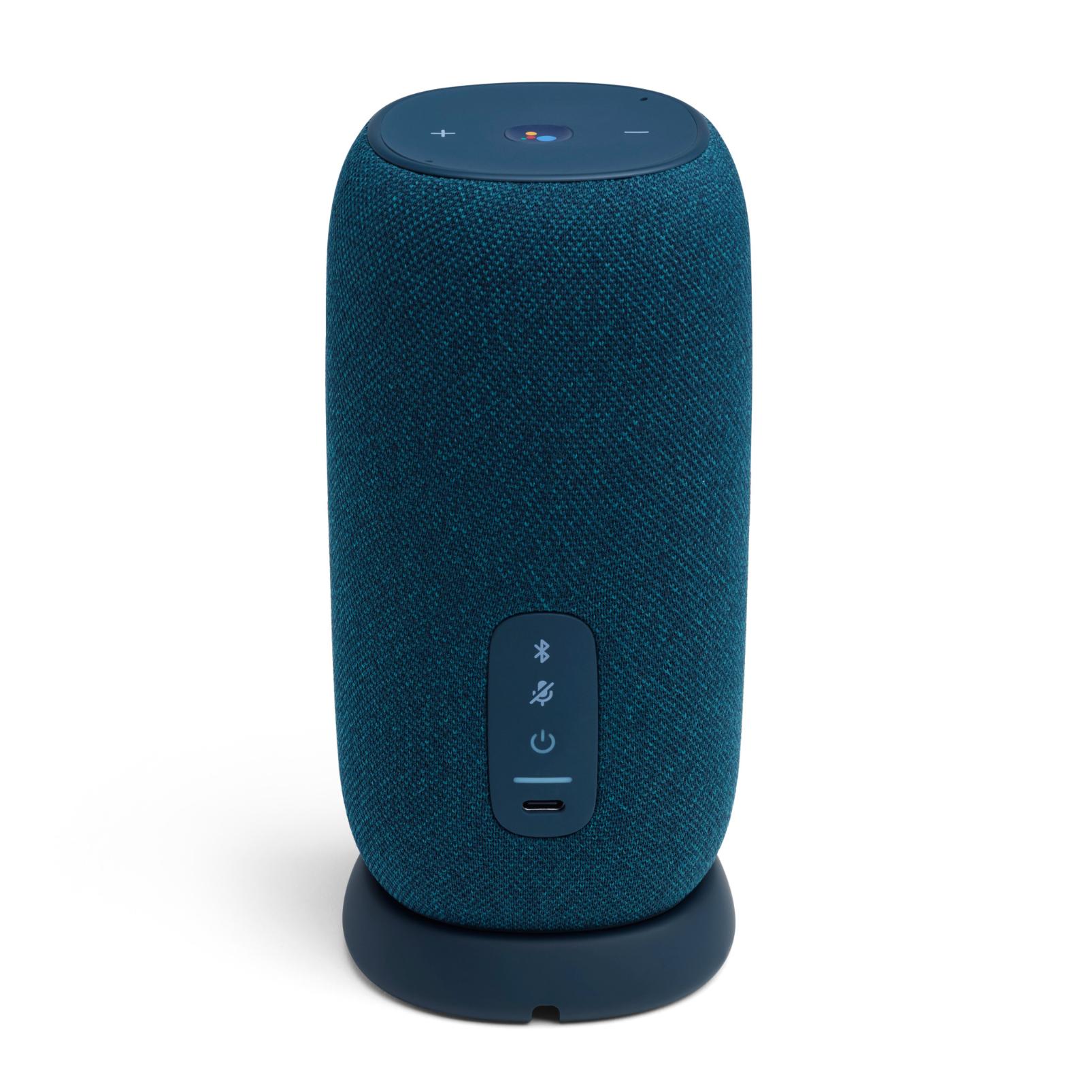 JBL Link Portable - Blue - Portable Wi-Fi Speaker - Back