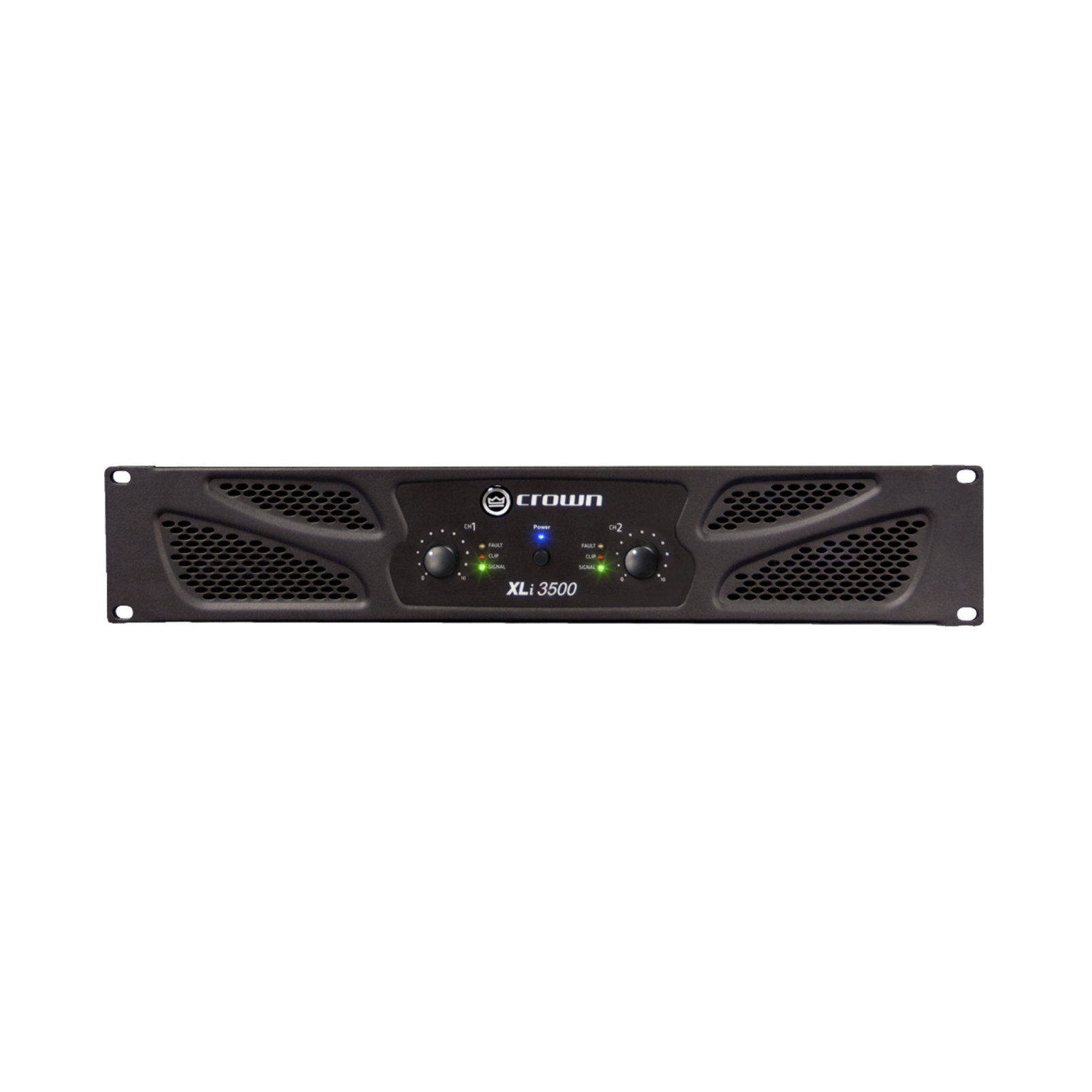 XLi 3500 - Grey - Two-channel, 1350W @ 4Ω power amplifier - Hero