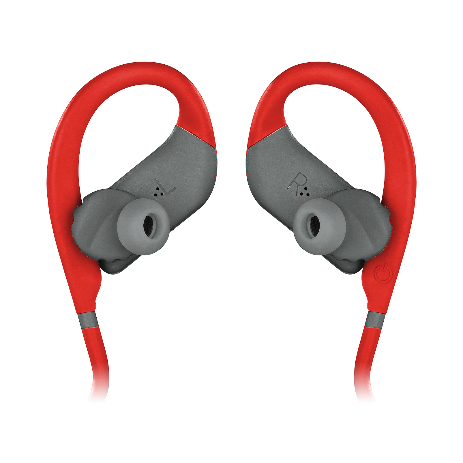 JBL Endurance JUMP - Red - Waterproof Wireless Sport In-Ear Headphones - Detailshot 3