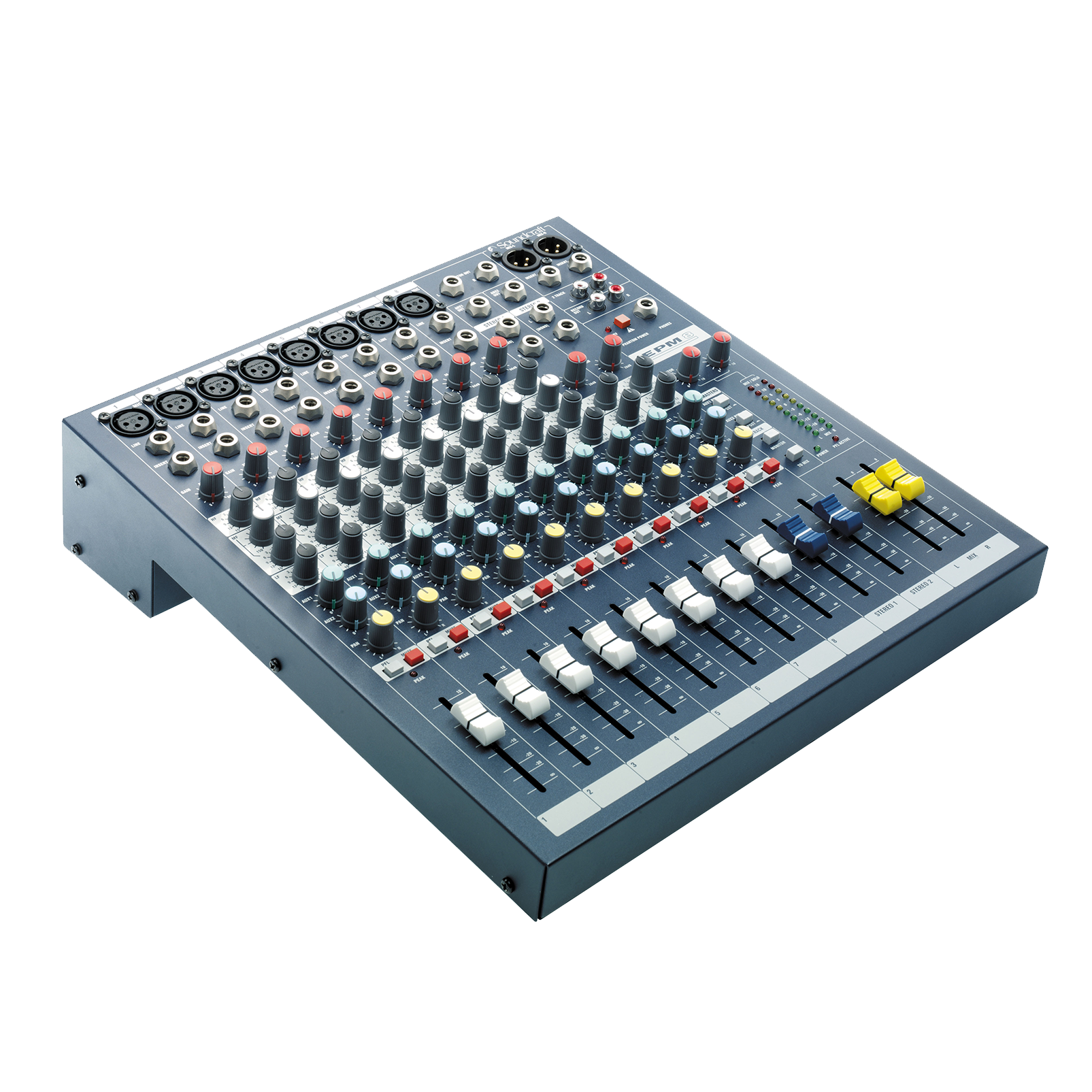 EPM8 - Dark Blue - A multipurpose mixer that carries the hallmarks of Soundcraft's professional heritage. - Hero