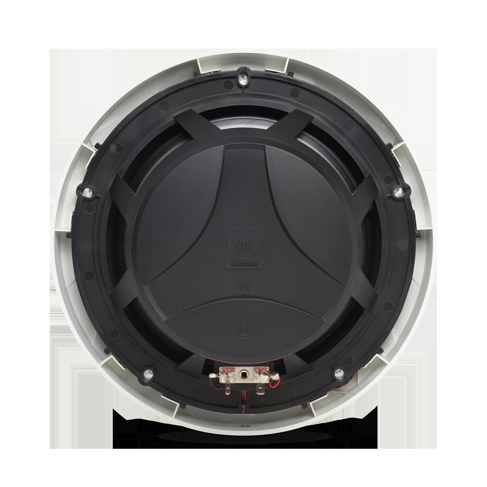 "Club Marine MS8LW - White Gloss - Club Marine MS8LW—8"" (200mm) two-way marine audio multi-element speaker with RGB lighting – White - Back"