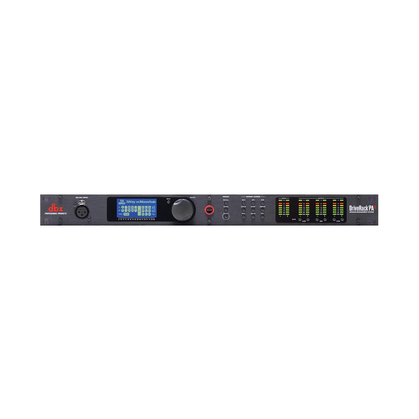 DriveRack PA2 - Black - Complete loudspeaker management system - Hero