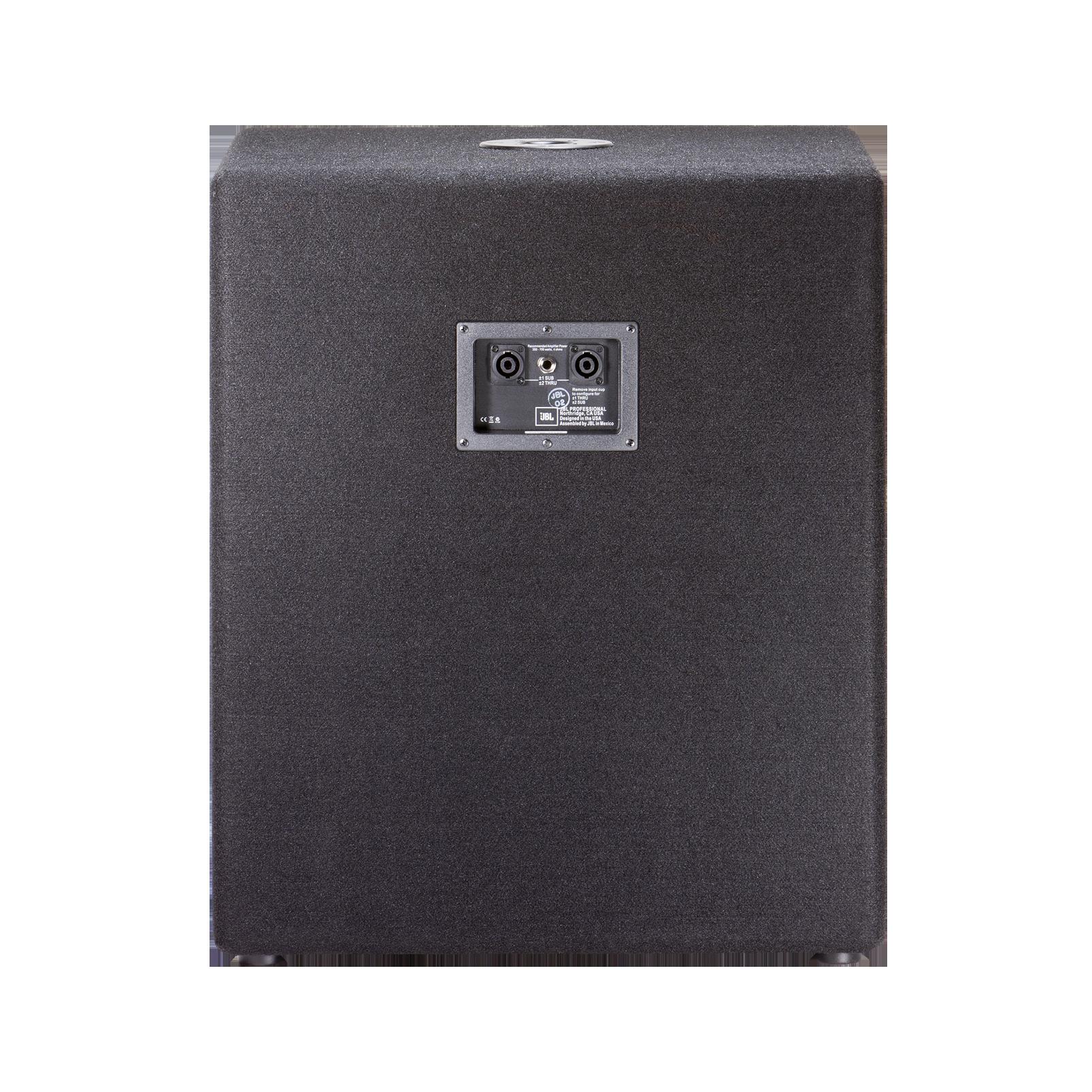 """JBL JRX218S - Black - 18"""" Compact Subwoofer - Back"""