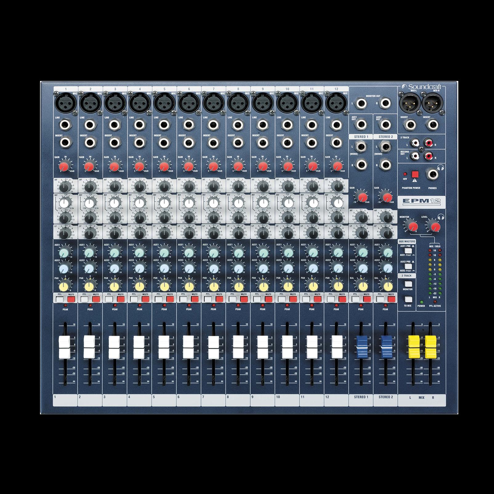 EPM12 - Dark Blue - A multipurpose mixer that carries the hallmarks of Soundcraft's professional heritage. - Detailshot 2