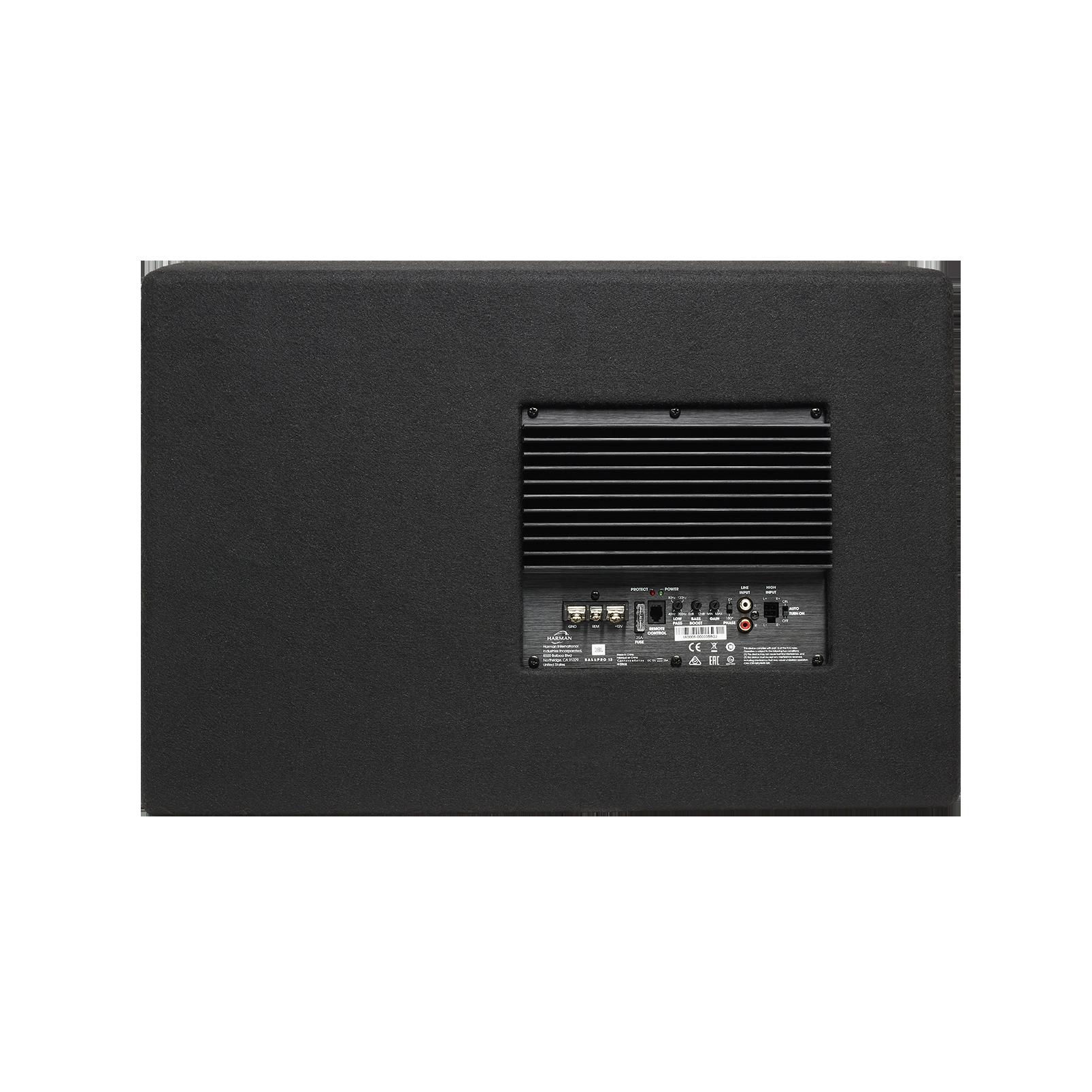 "JBL BassPro 12 - Black - 12"" (300mm) Car Audio Powered Subwoofer System with Slipstream Port Technology - Back"