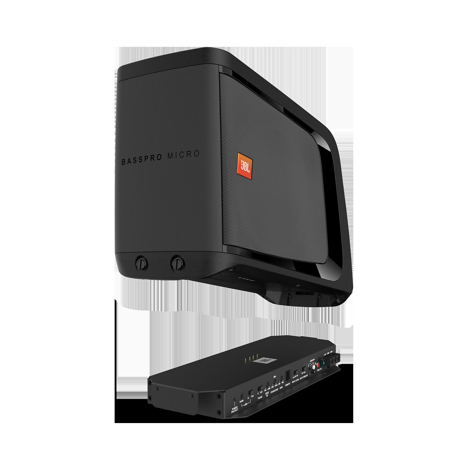 JBL BassPro Micro - Black - JBL BassPro Micro Dockable Powered Subwoofer System - Hero