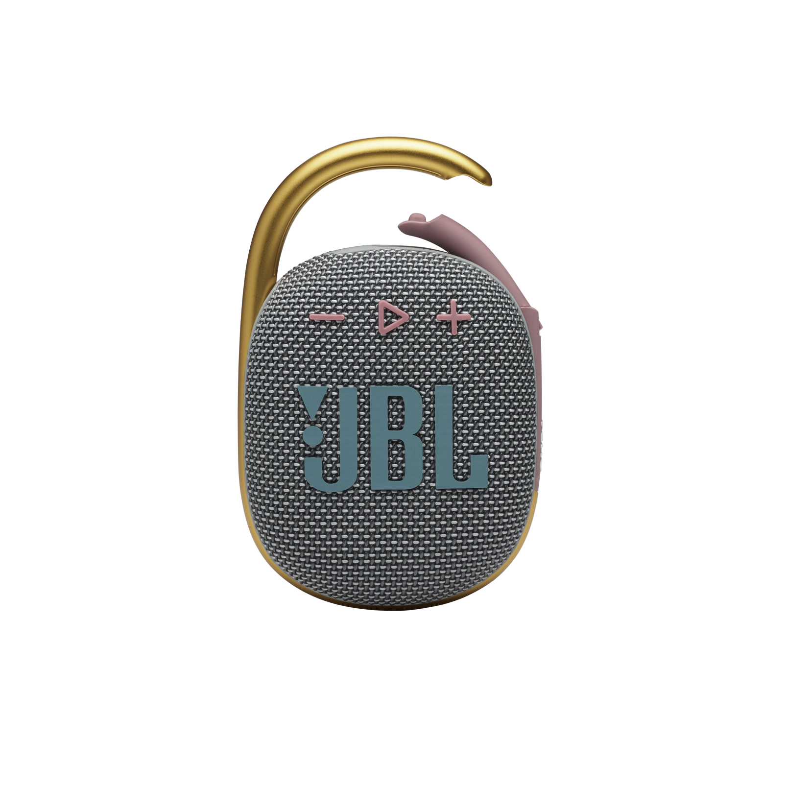 JBL CLIP 4 - Grey - Ultra-portable Waterproof Speaker - Front