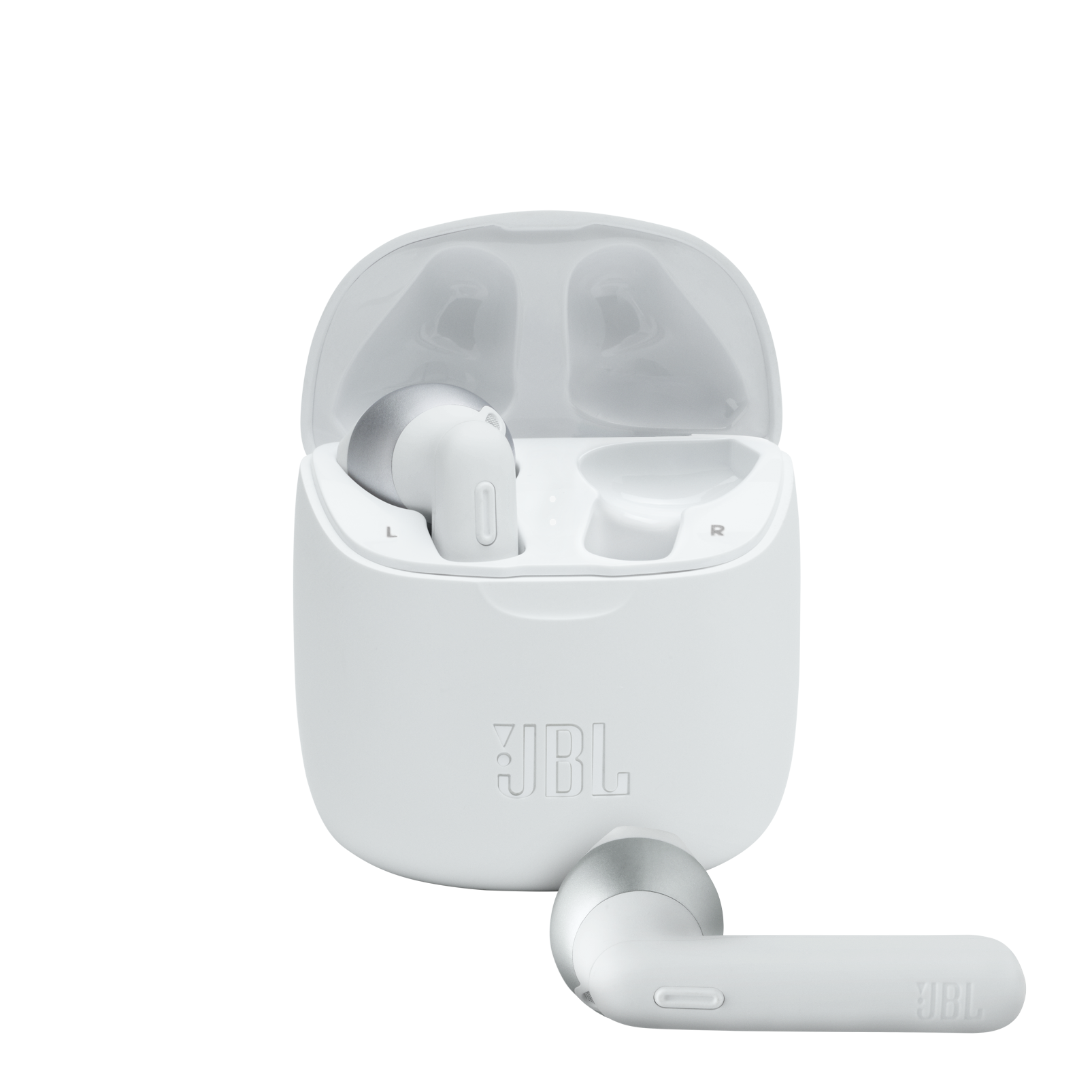 JBL Tune 225TWS - White - True wireless earbud headphones - Hero
