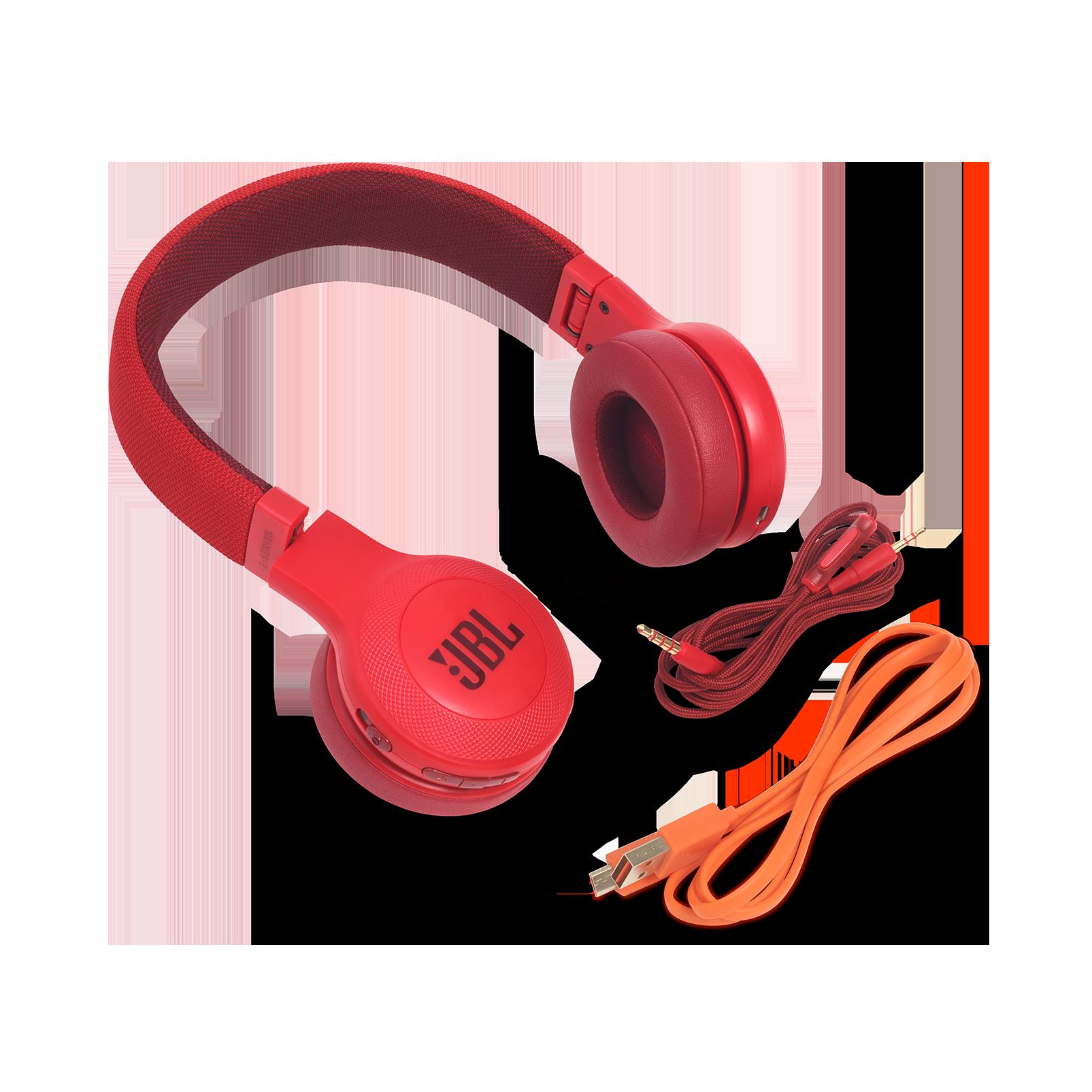 JBL E45BT - Red - Wireless on-ear headphones - Detailshot 4