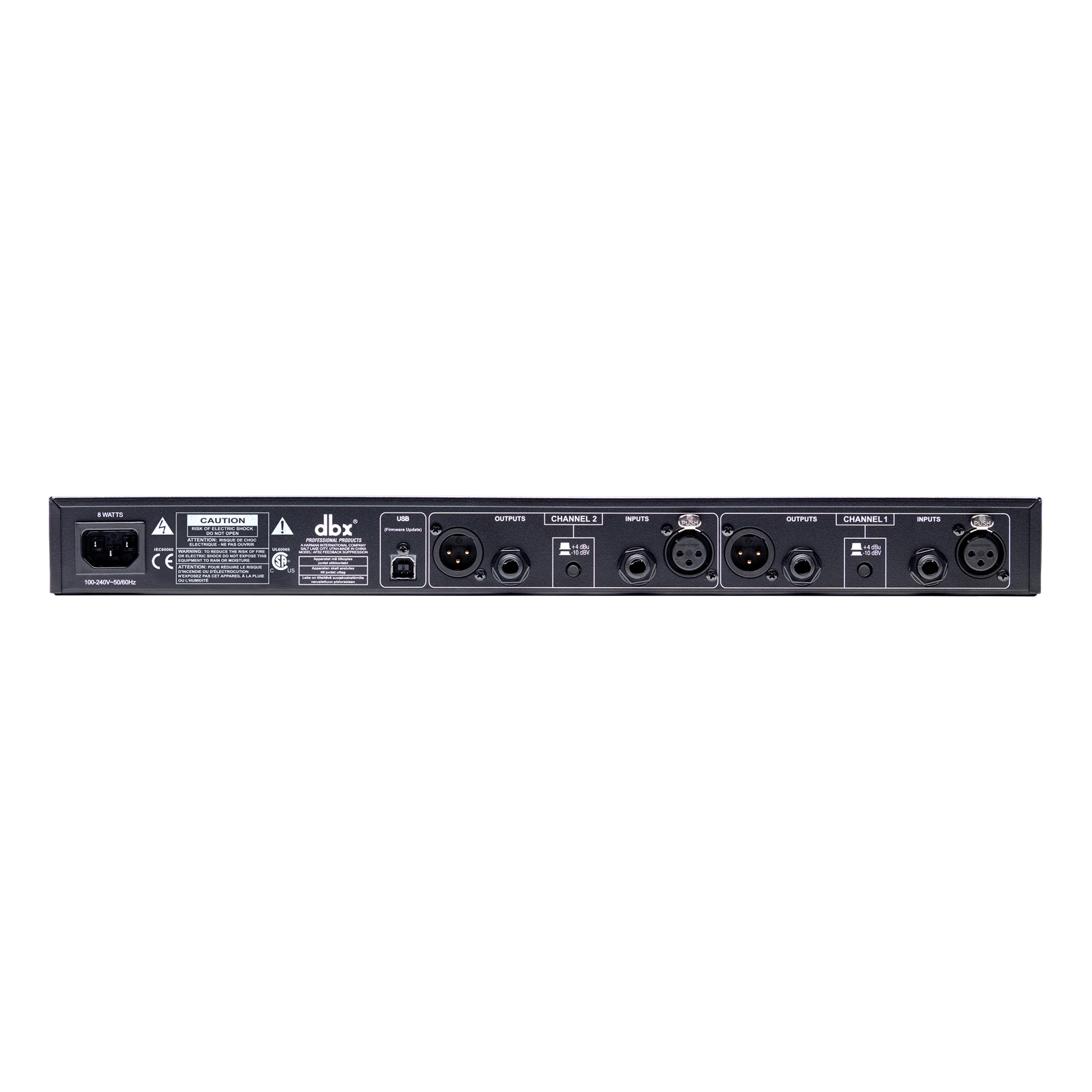 AFS2 - Black - Advanced Feedback Suppression® Processor with Full LCD Display - Back